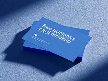 Business Cards with Shadows Mockup