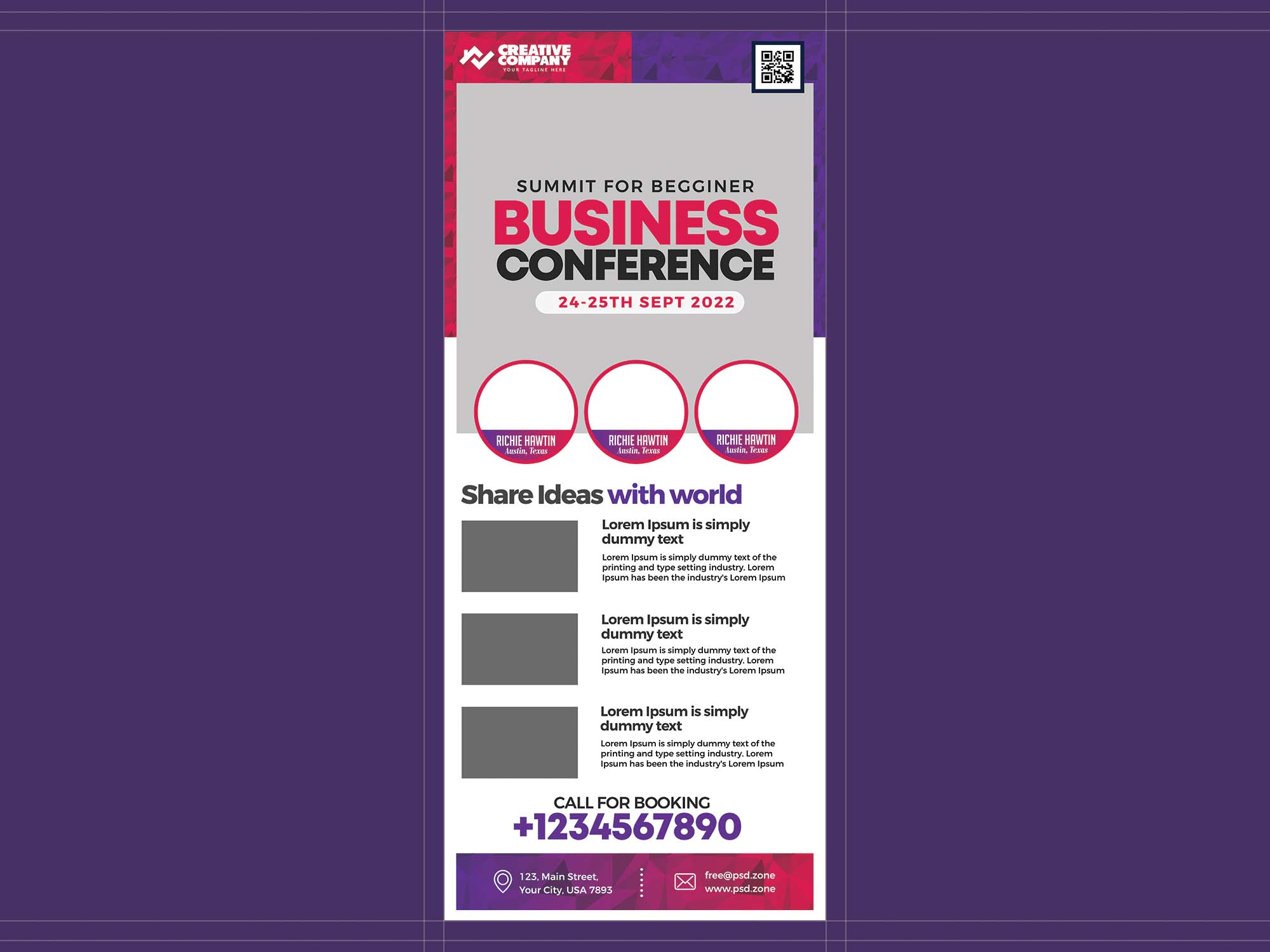 Business Conference Rollup Template 2