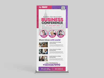 Business Conference Rollup Template