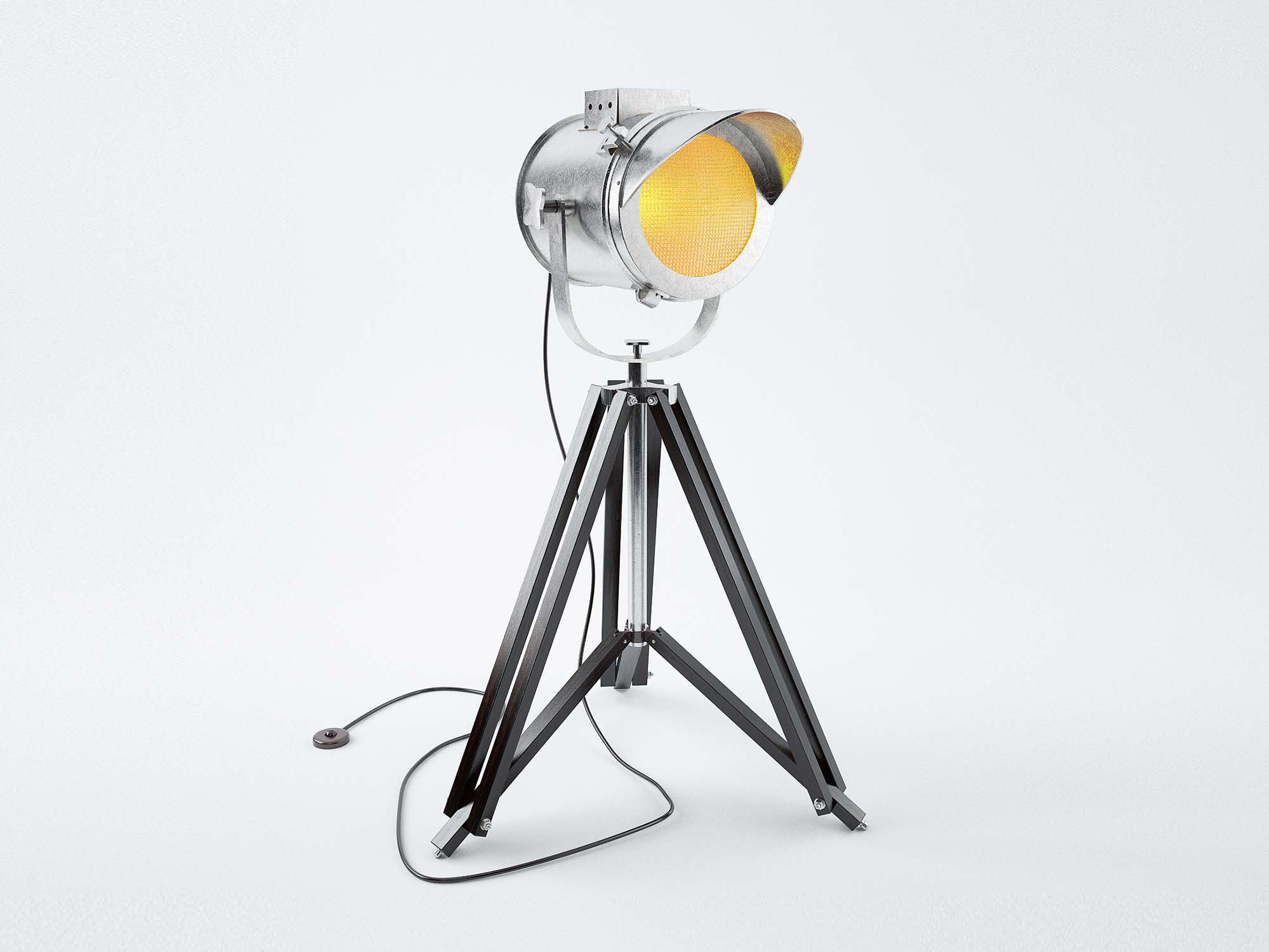 Cap Tripod Lamp 3D Model