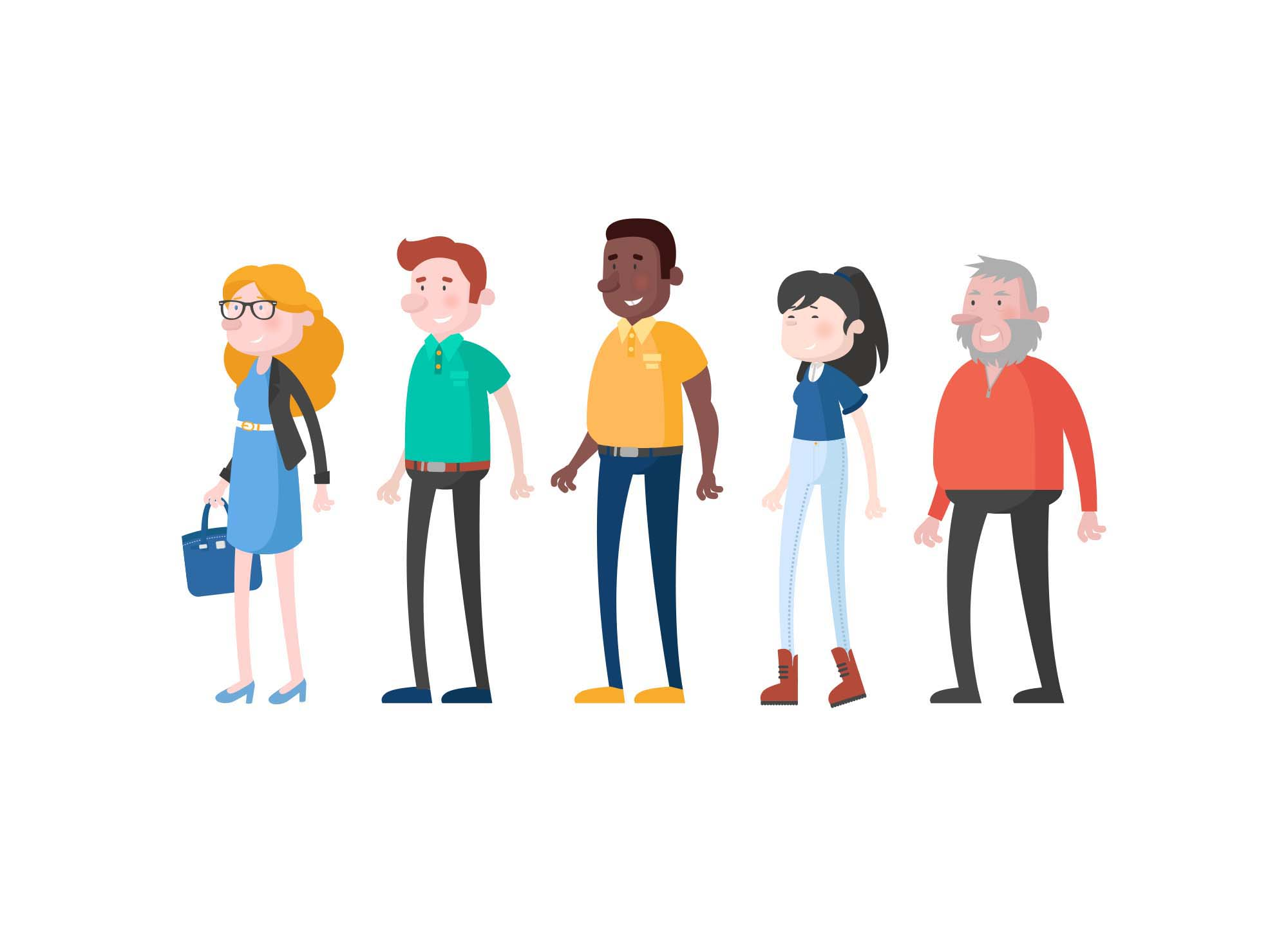 Casual Vector Characters
