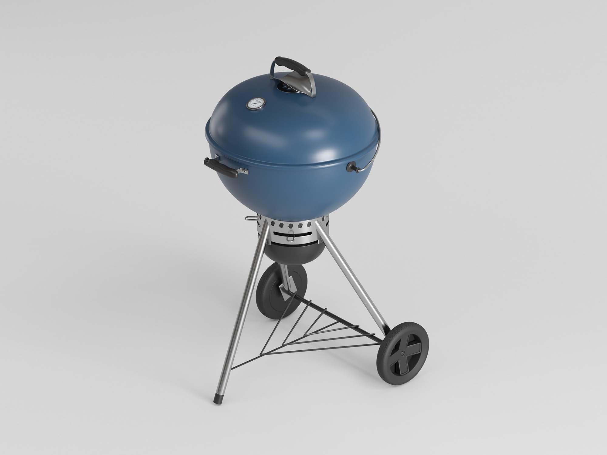 Charcoal Grill 3D Model 2