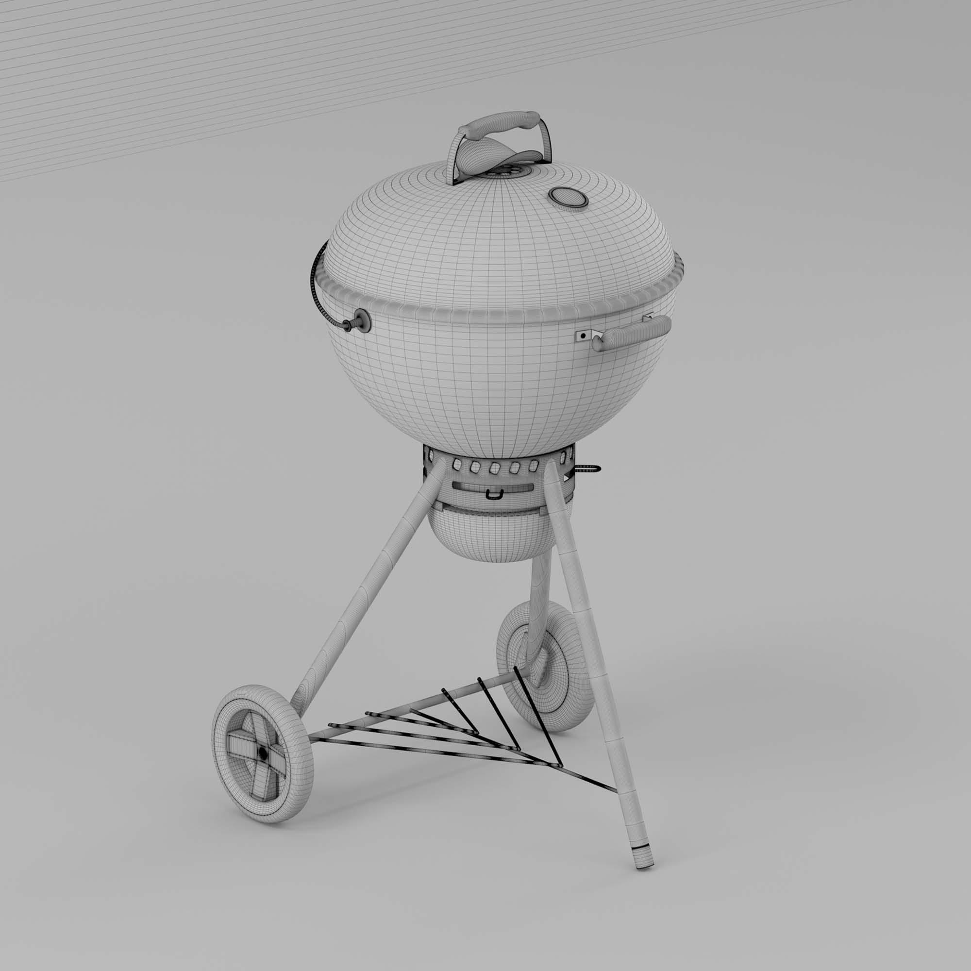 Charcoal Grill 3D Model - MAX