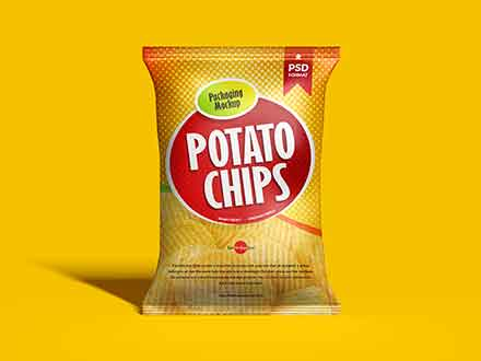 Chips Packaging Bag Mockup