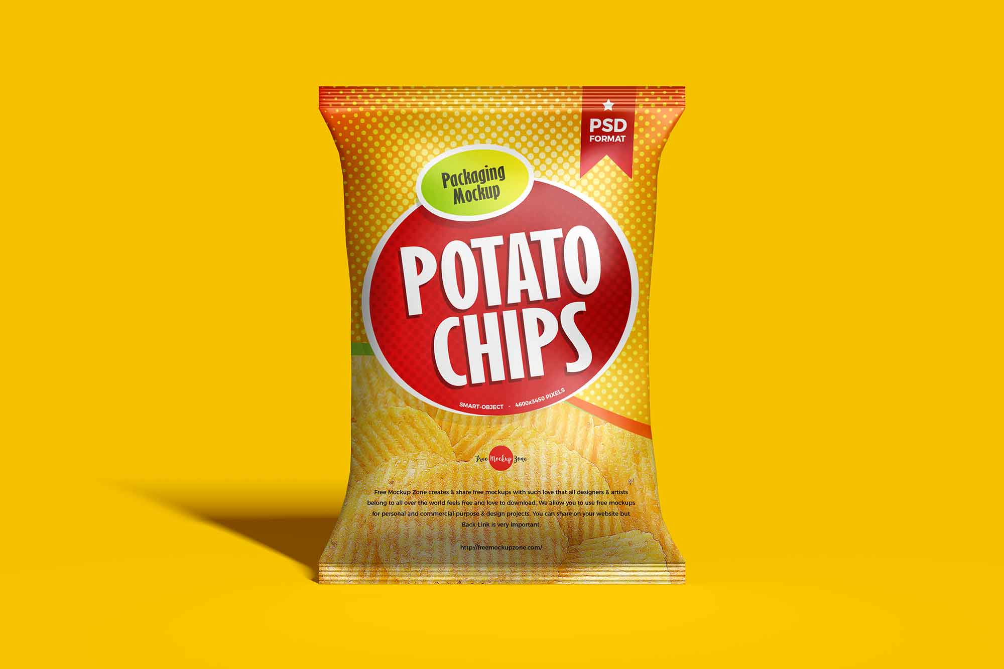 Chips Packaging Bag Mockup