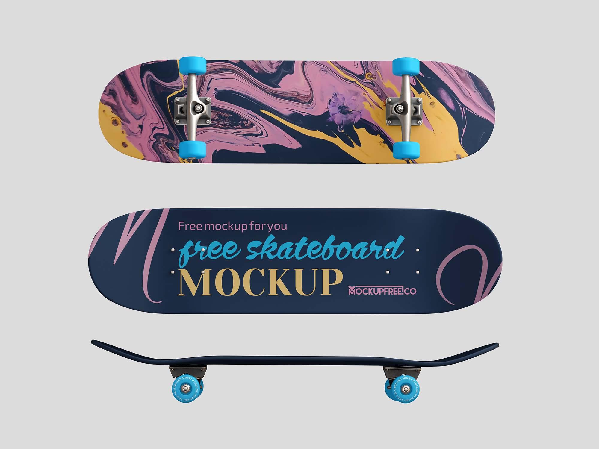 Classic Skateboard Mockup
