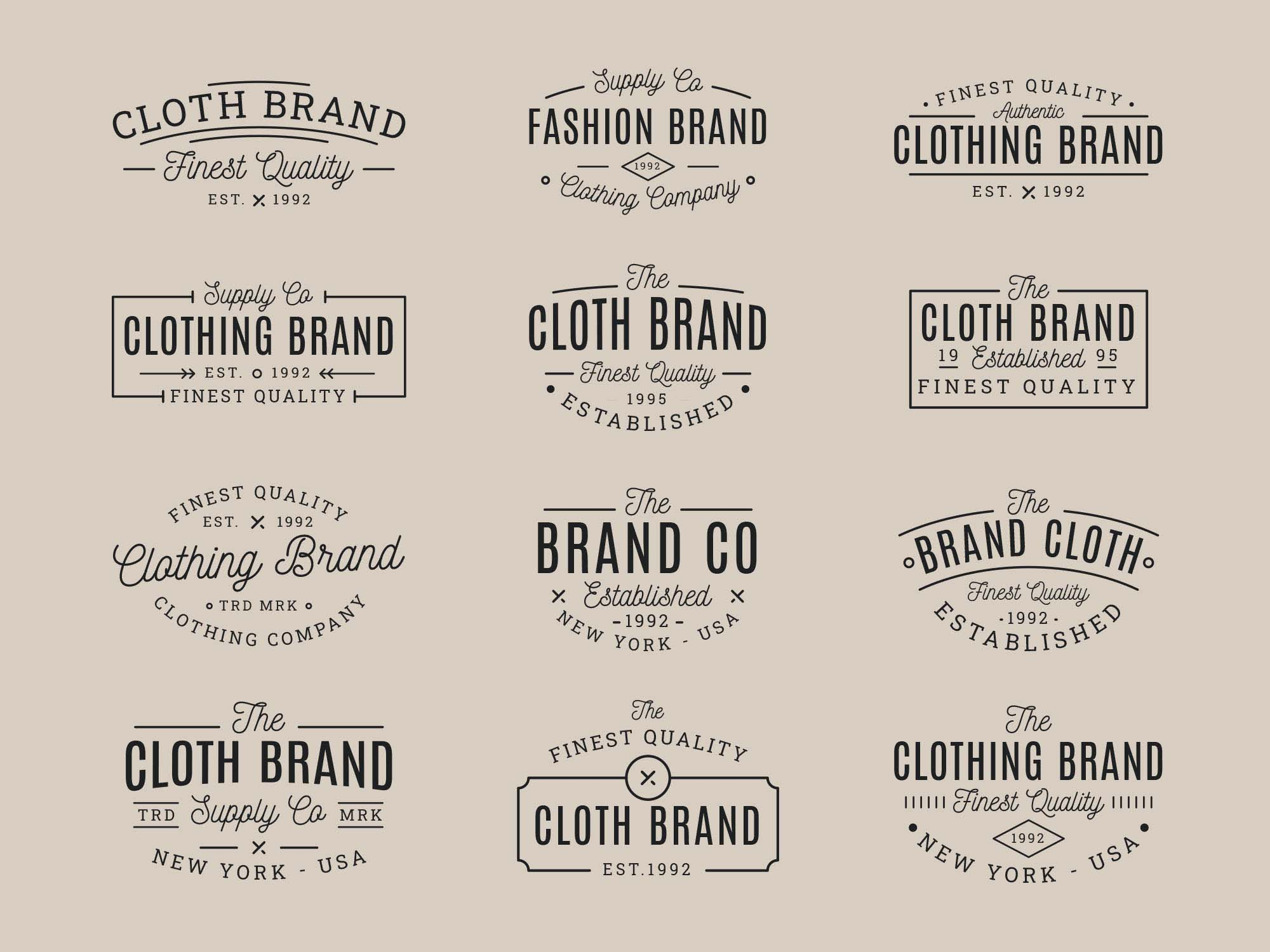 Clothing Vector Badges 3