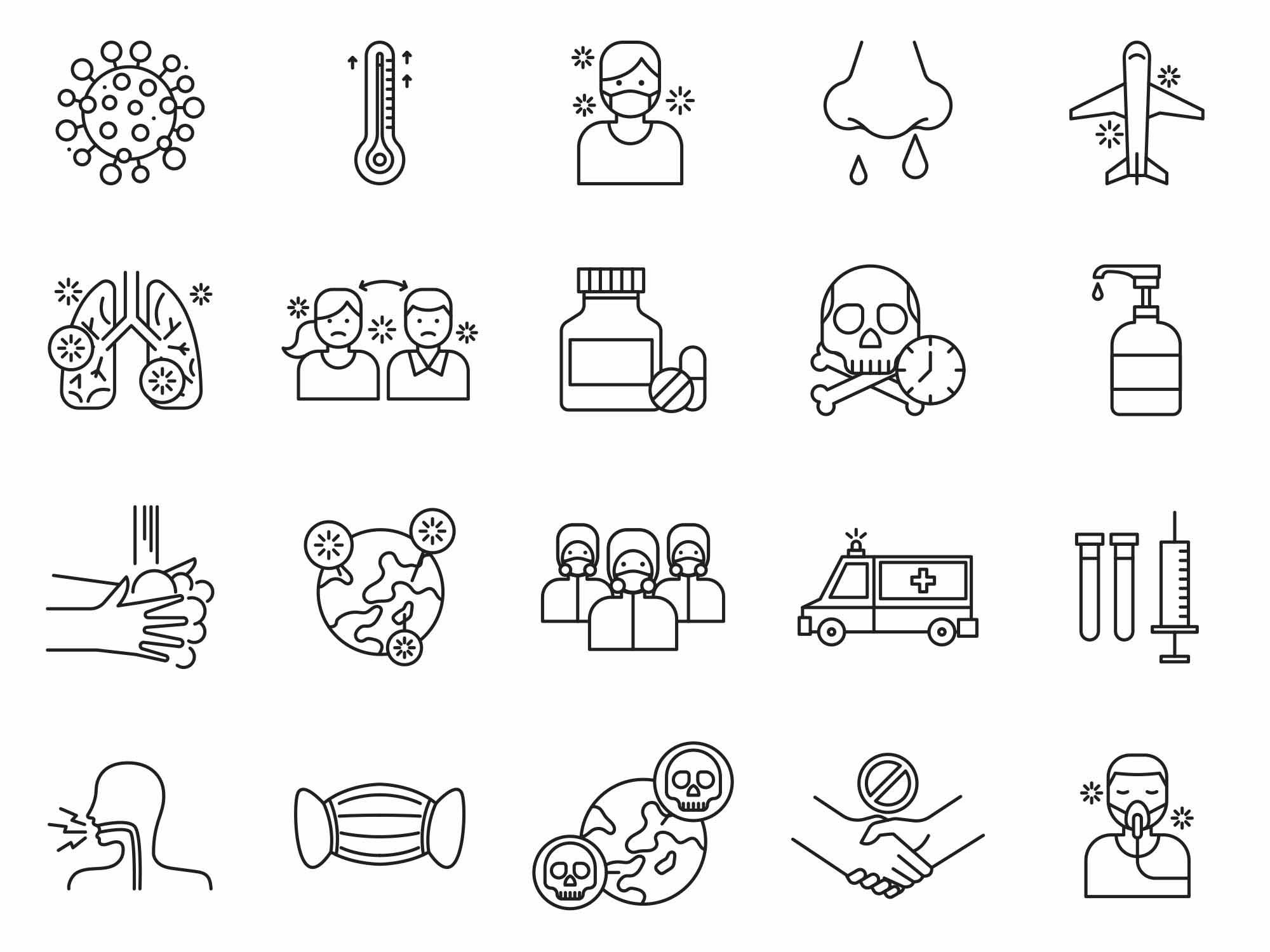 free coronavirus vector icons ai free coronavirus vector icons ai