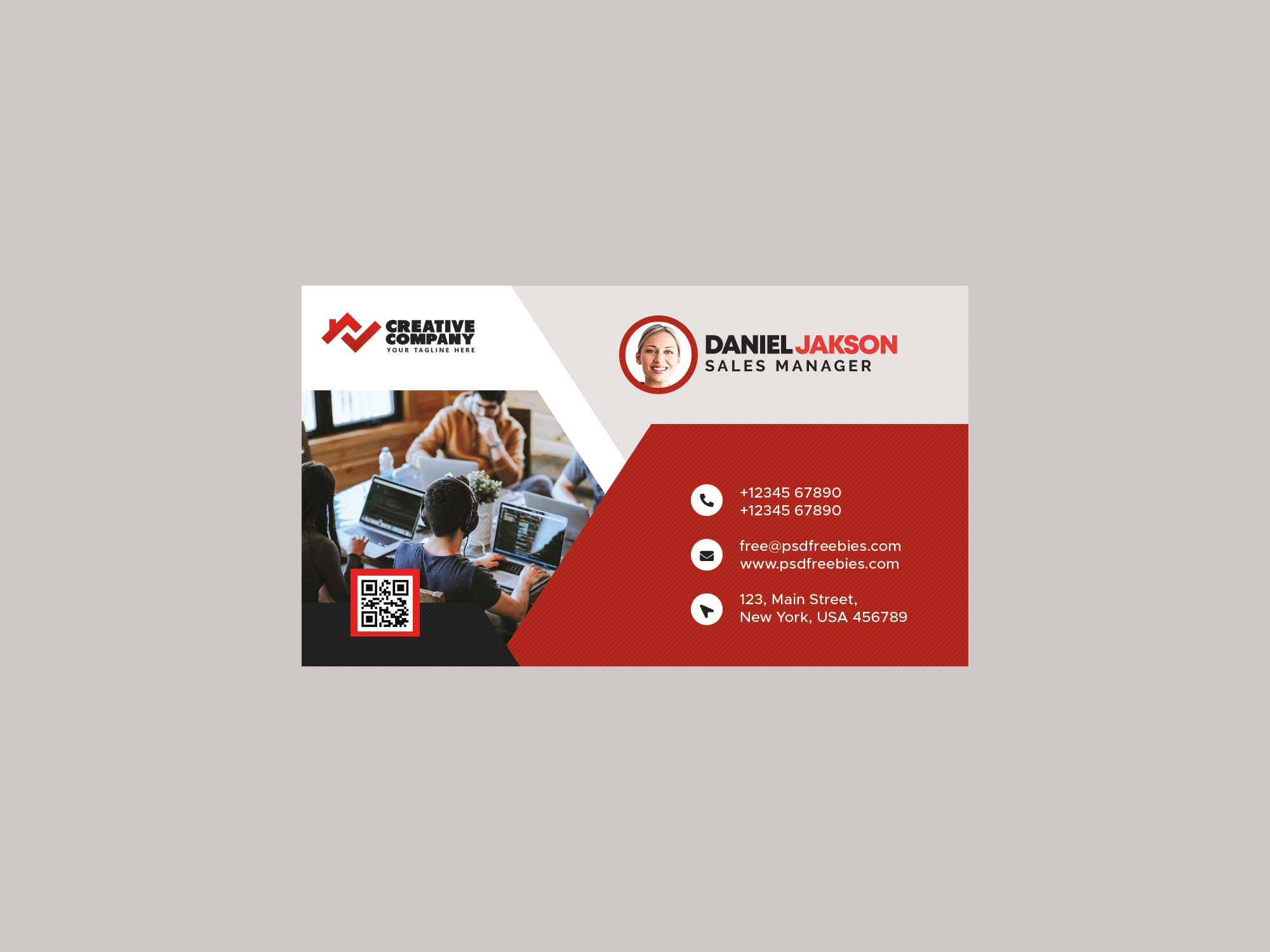 Corporate Business Card Template 2