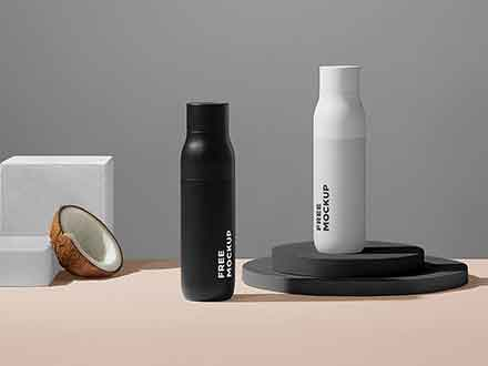 Cosmetic Bottle Packages Mockup