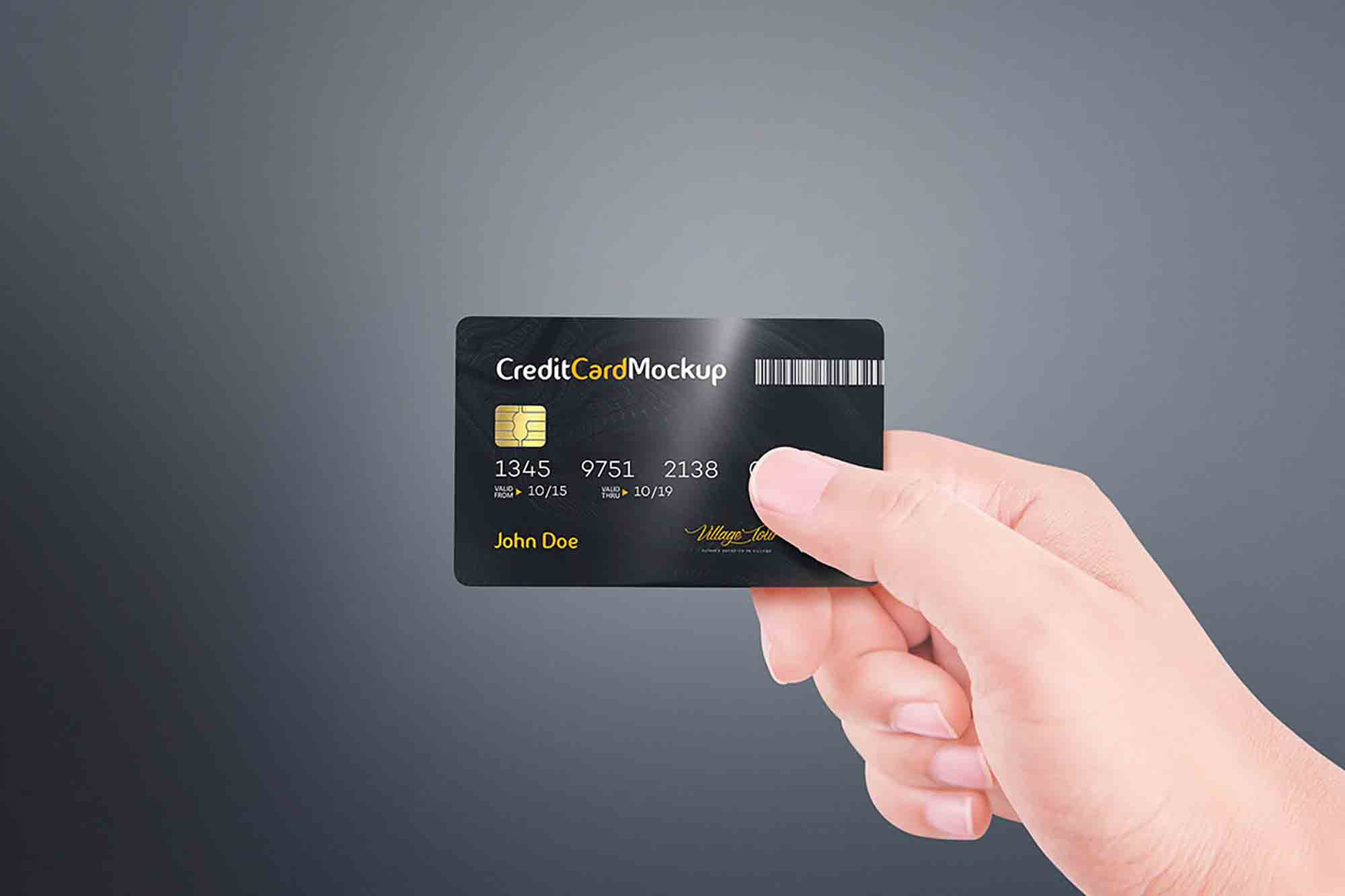 Credit Card in Hand Mockup 2