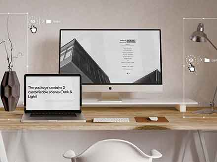 Customizable Workspace Mockup