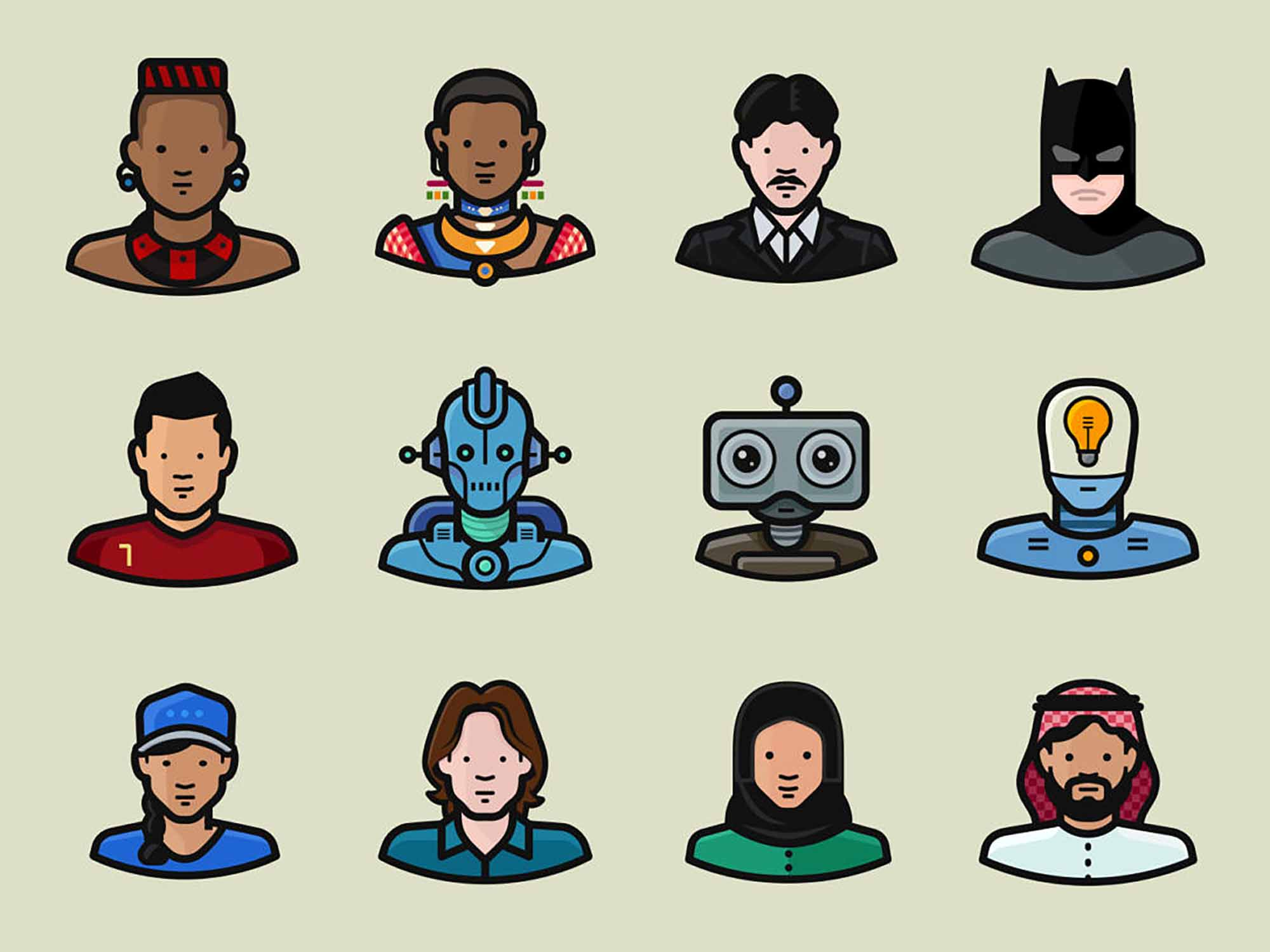 Diversity Vector Avatars 3