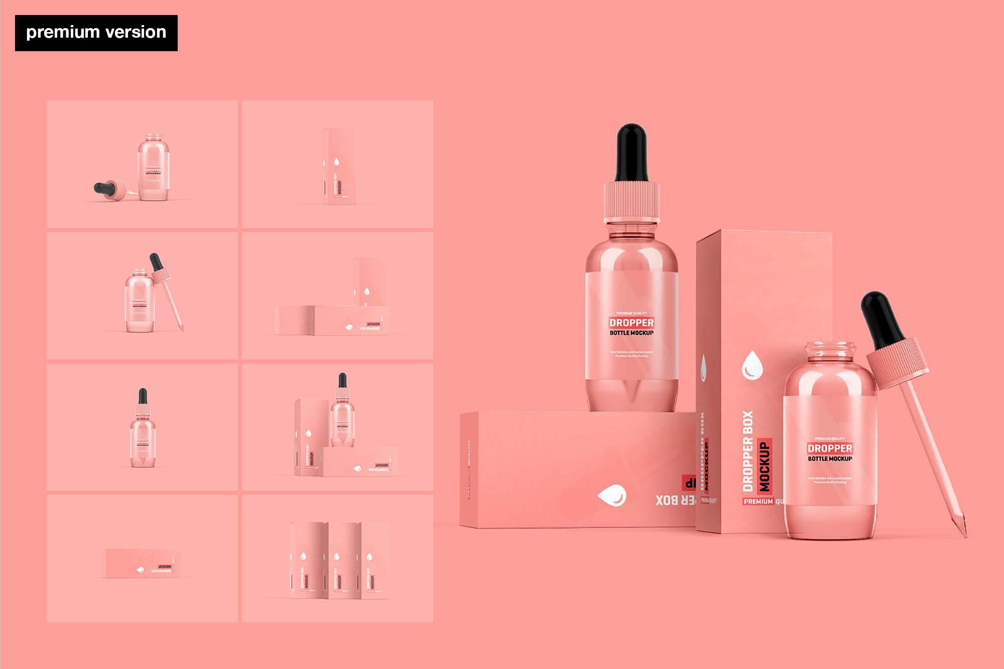 Dropper Bottle Packaging Mockup - Premium