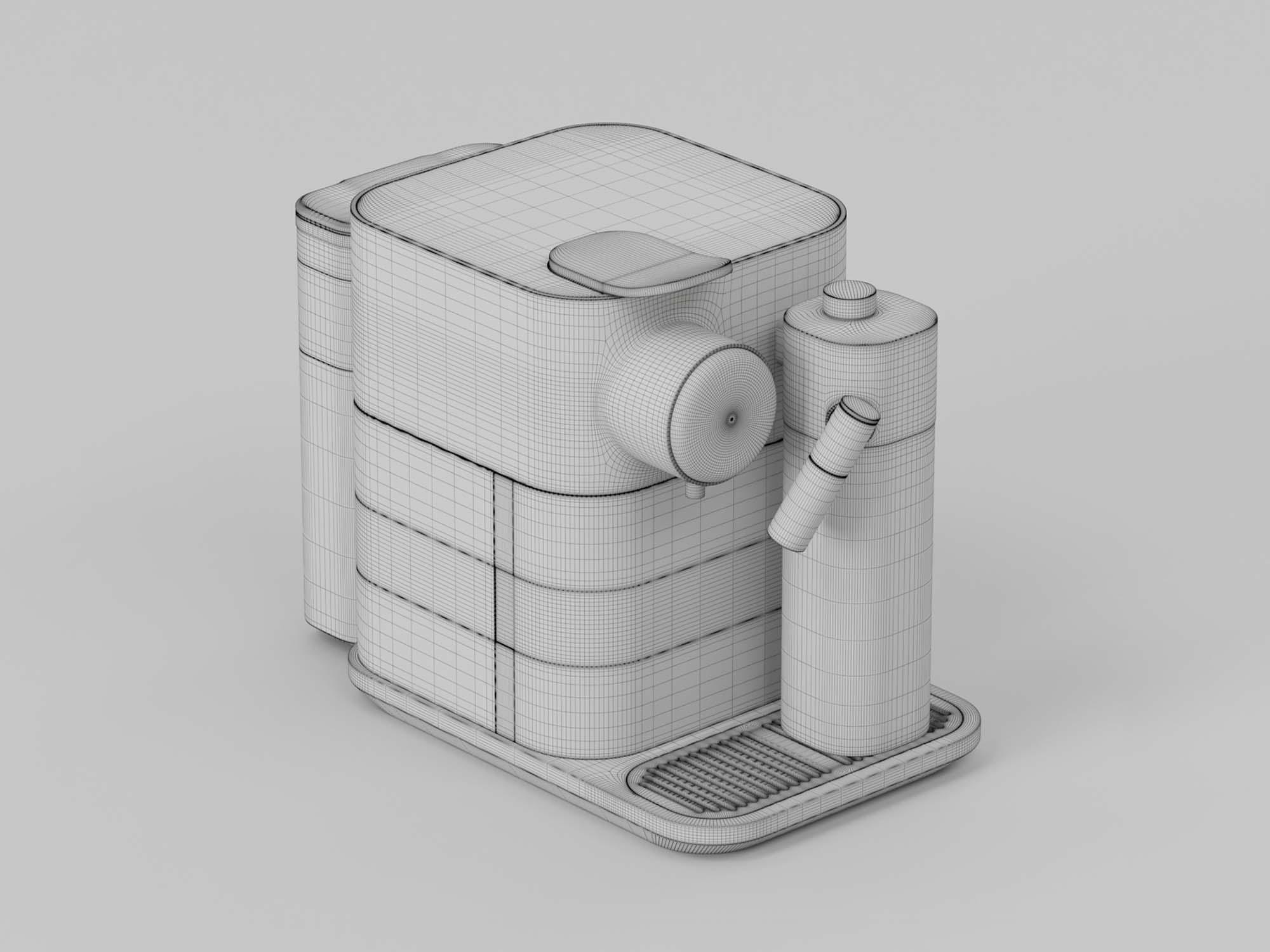 Espresso Machine 3D Model 3