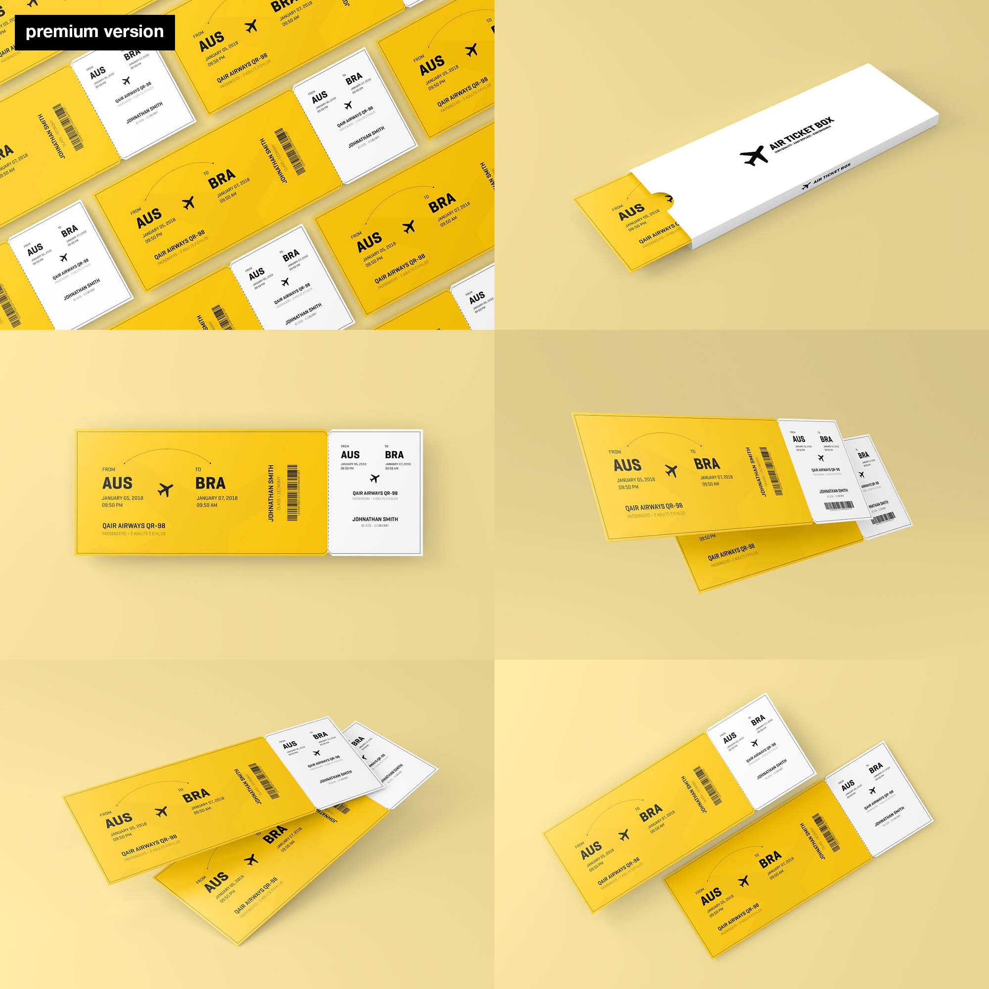 Event Ticket Mockup - Premium Version