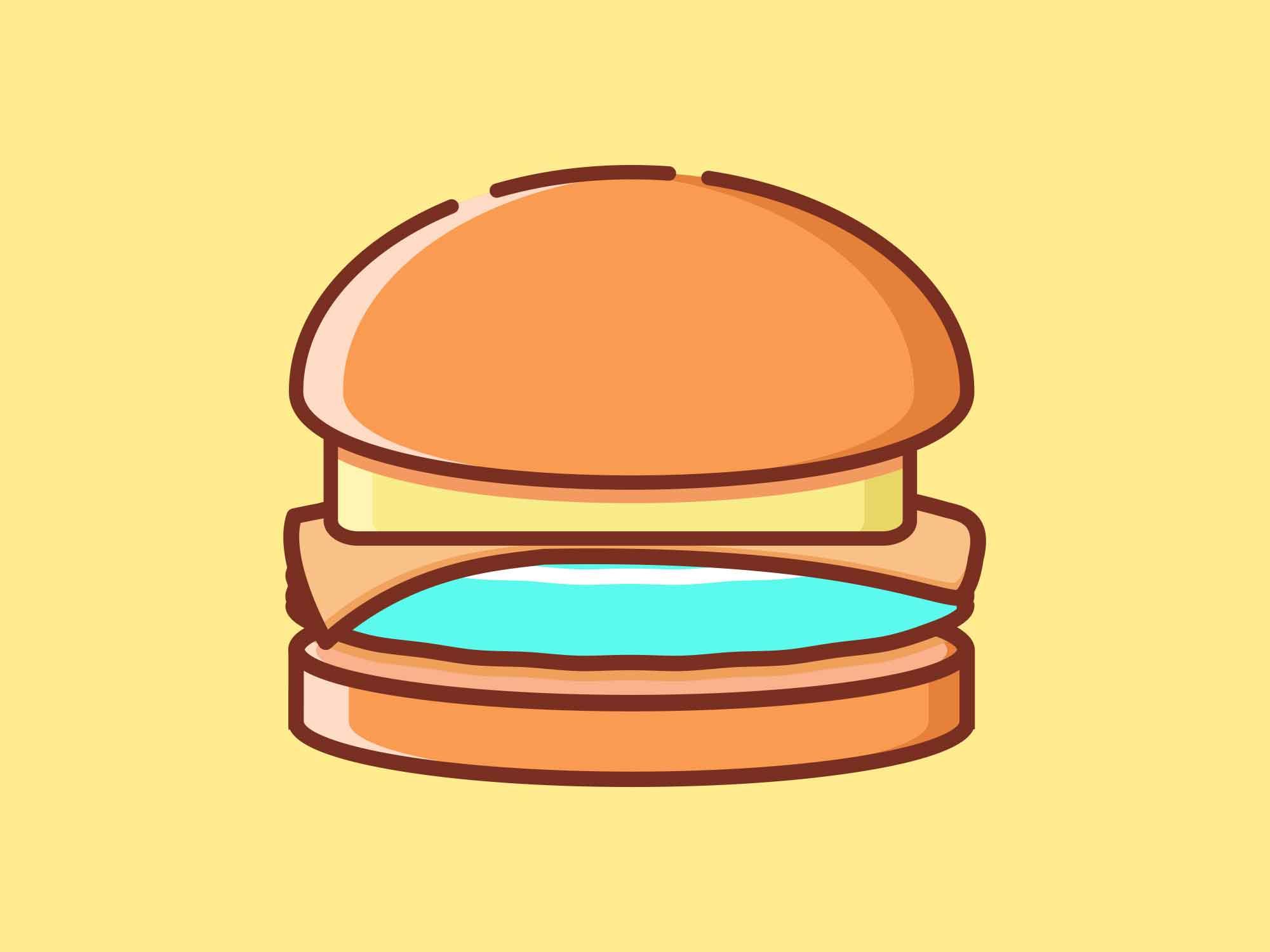 Fast Food Icons Burger