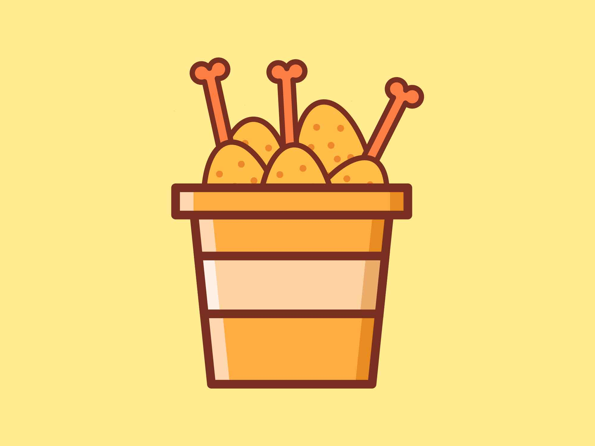 Fast Food Icons Chicken