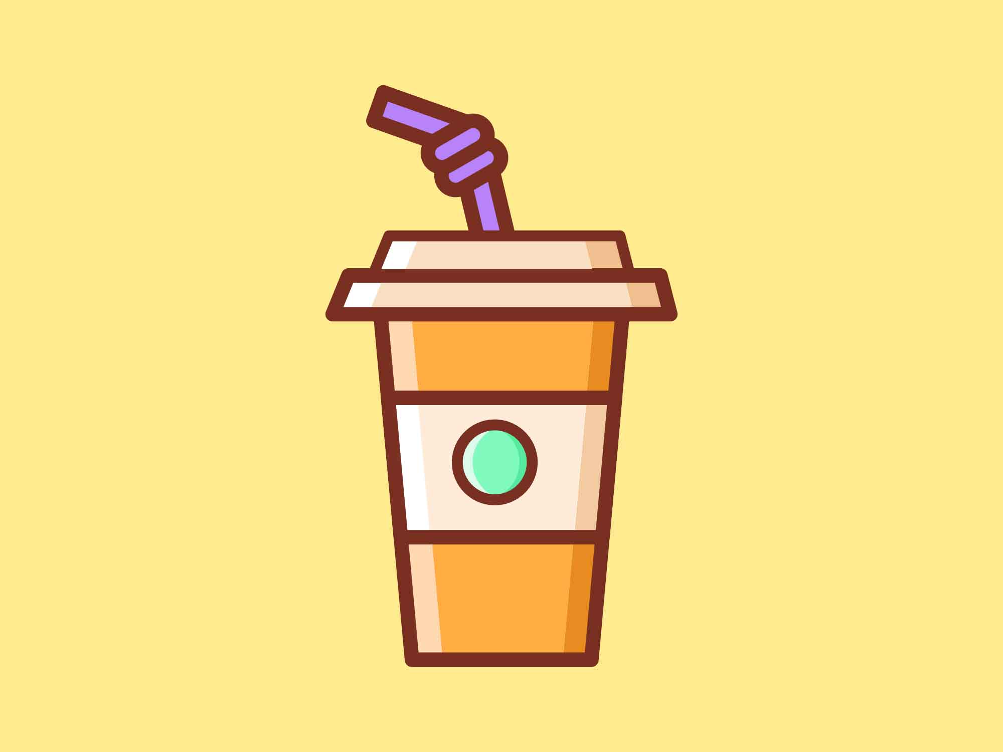 Fast Food Icons Coffee