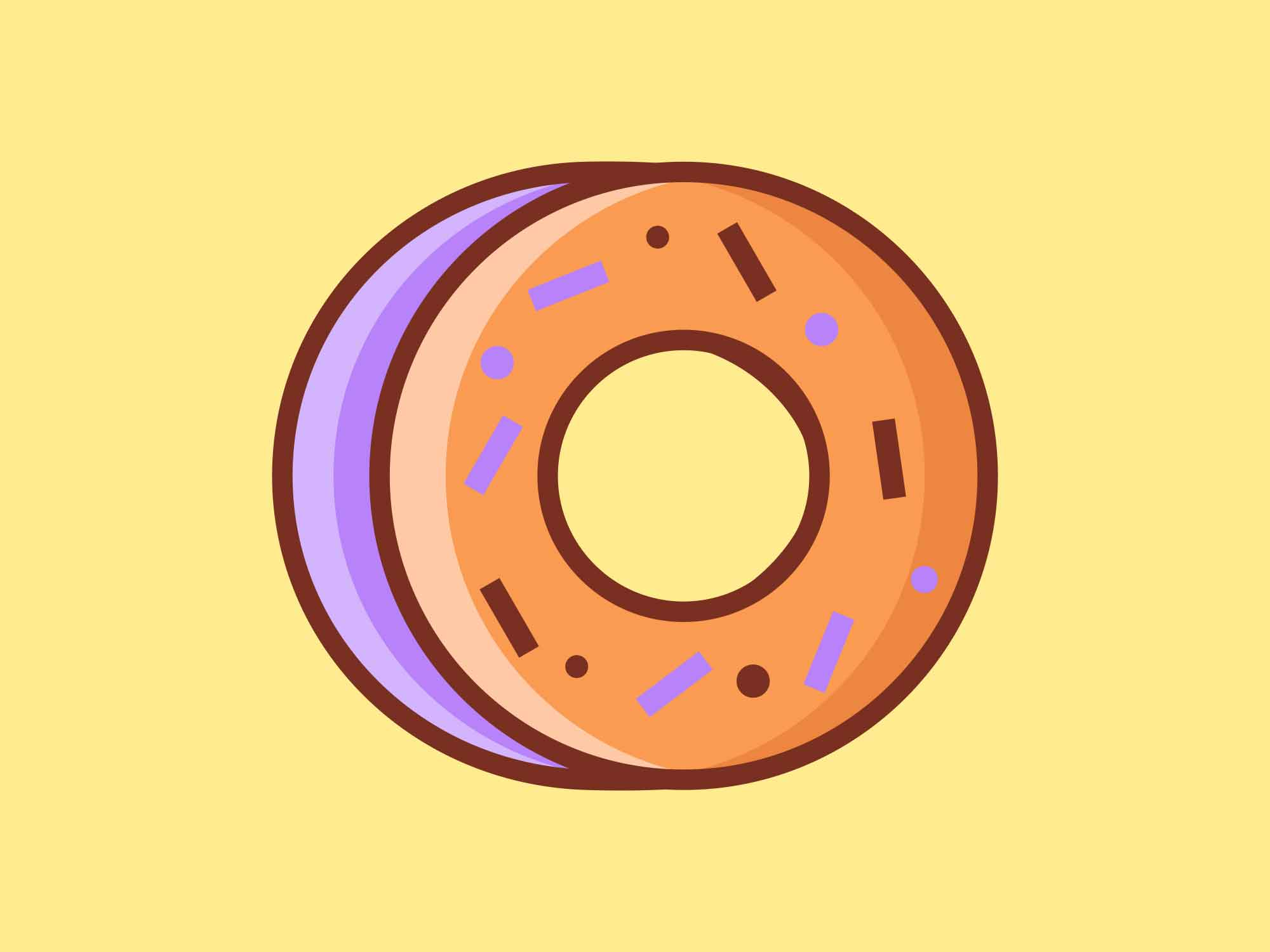 Fast Food Icons Donuts