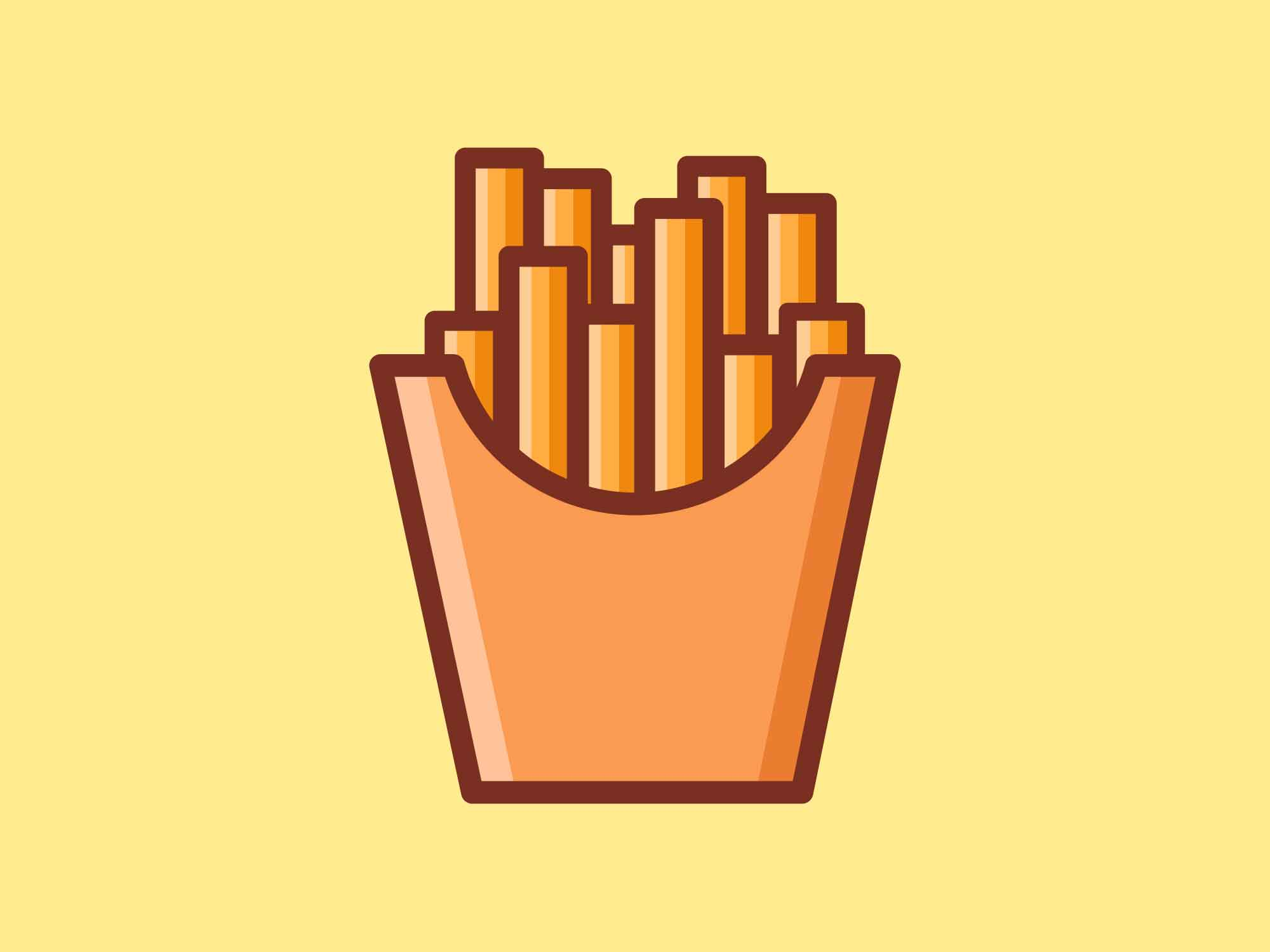Fast Food Icons French Fries