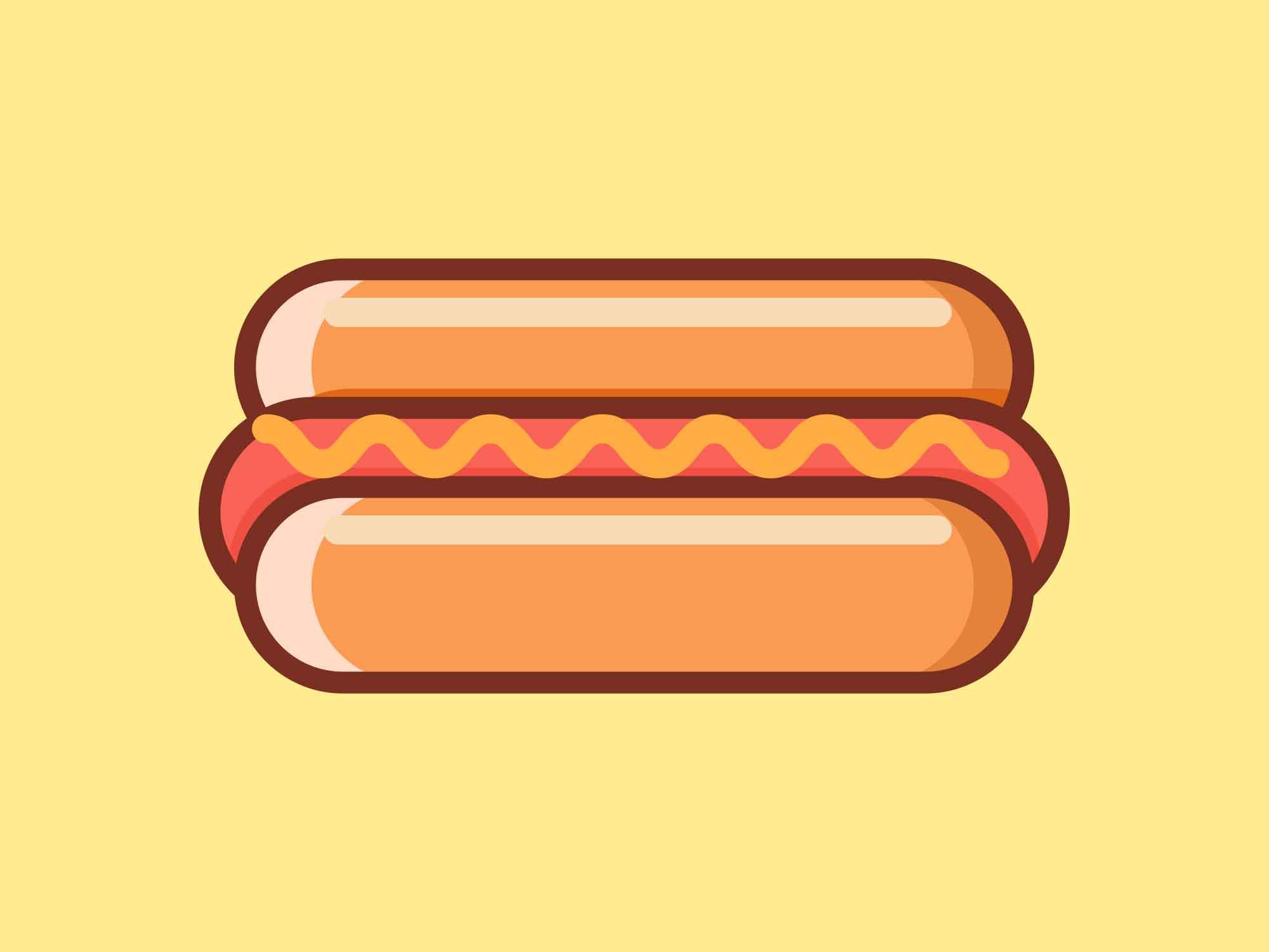 Fast Food Icons Hotdog