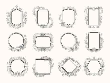Floral Vector Frames