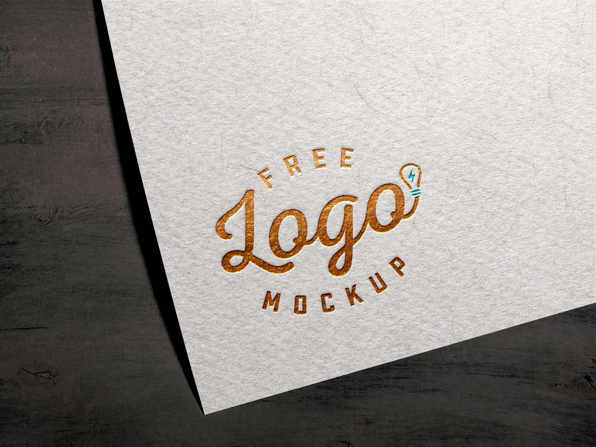 Foil Textured Card Logo Mockup