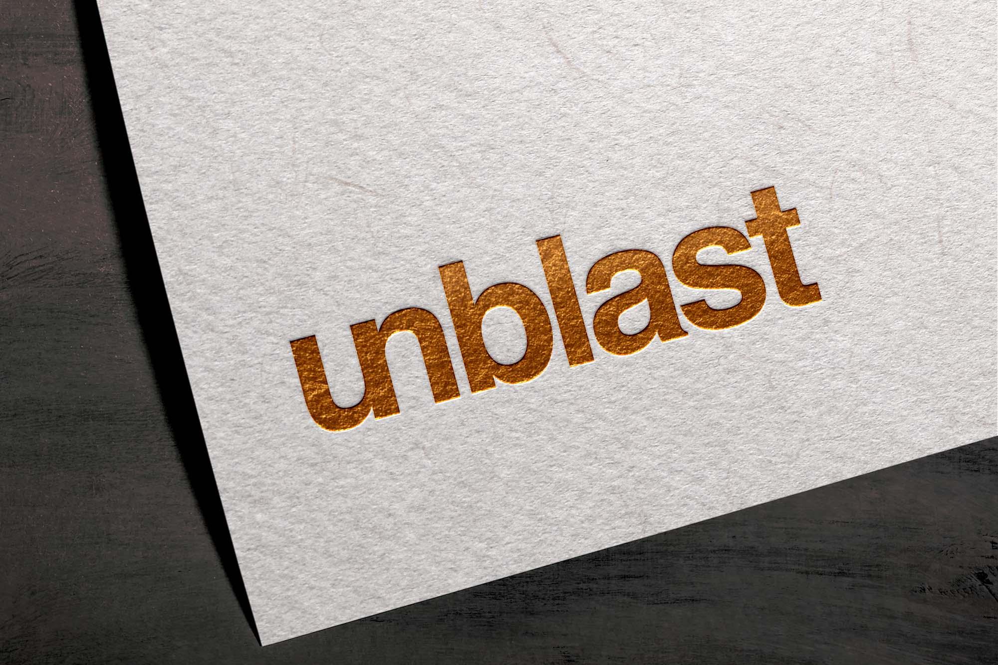 Foil Textured Card Logo Mockup 2