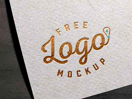 Foil Textured Card Logo Mockup