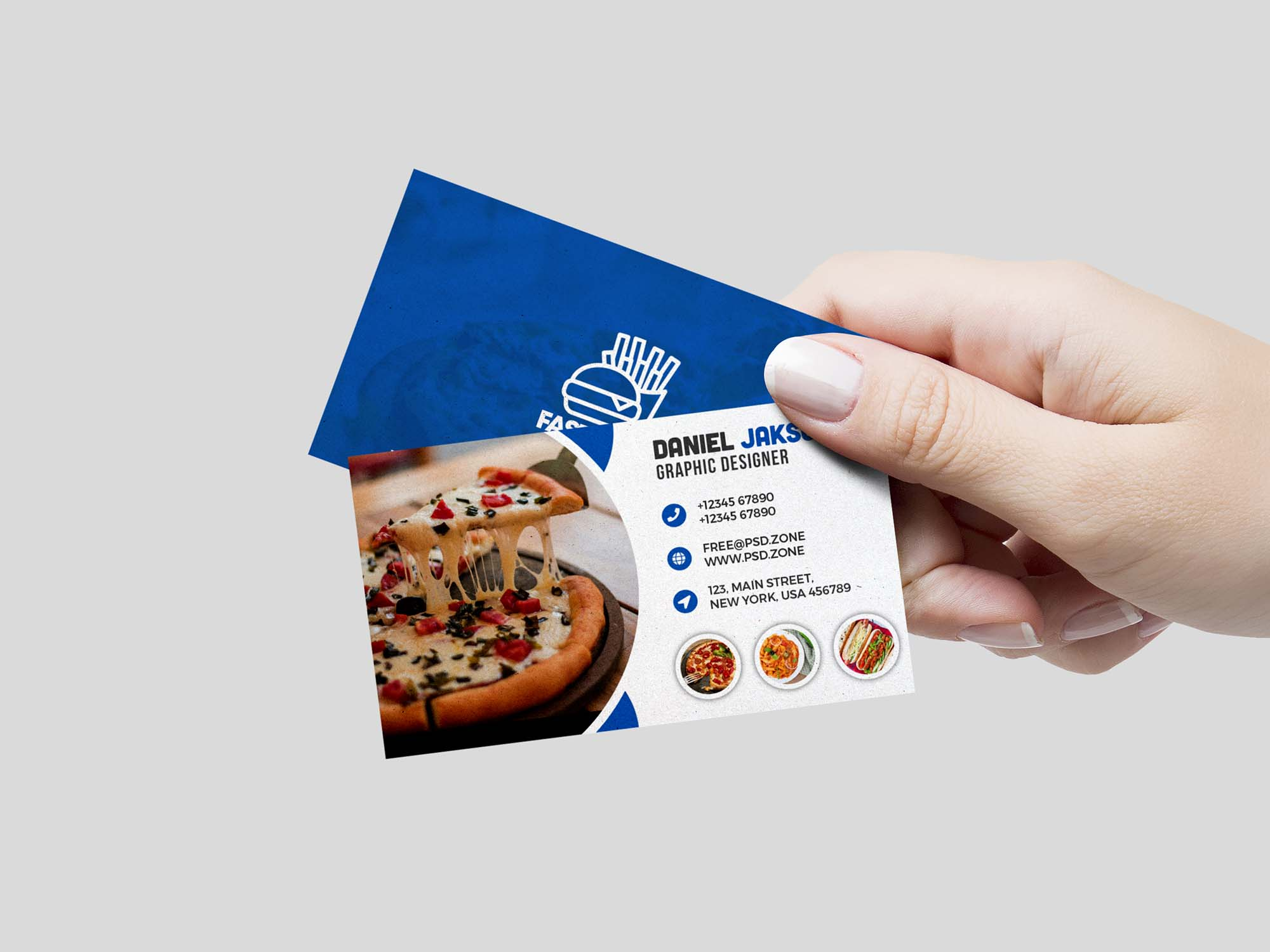 Food Restaurant Business Card Template