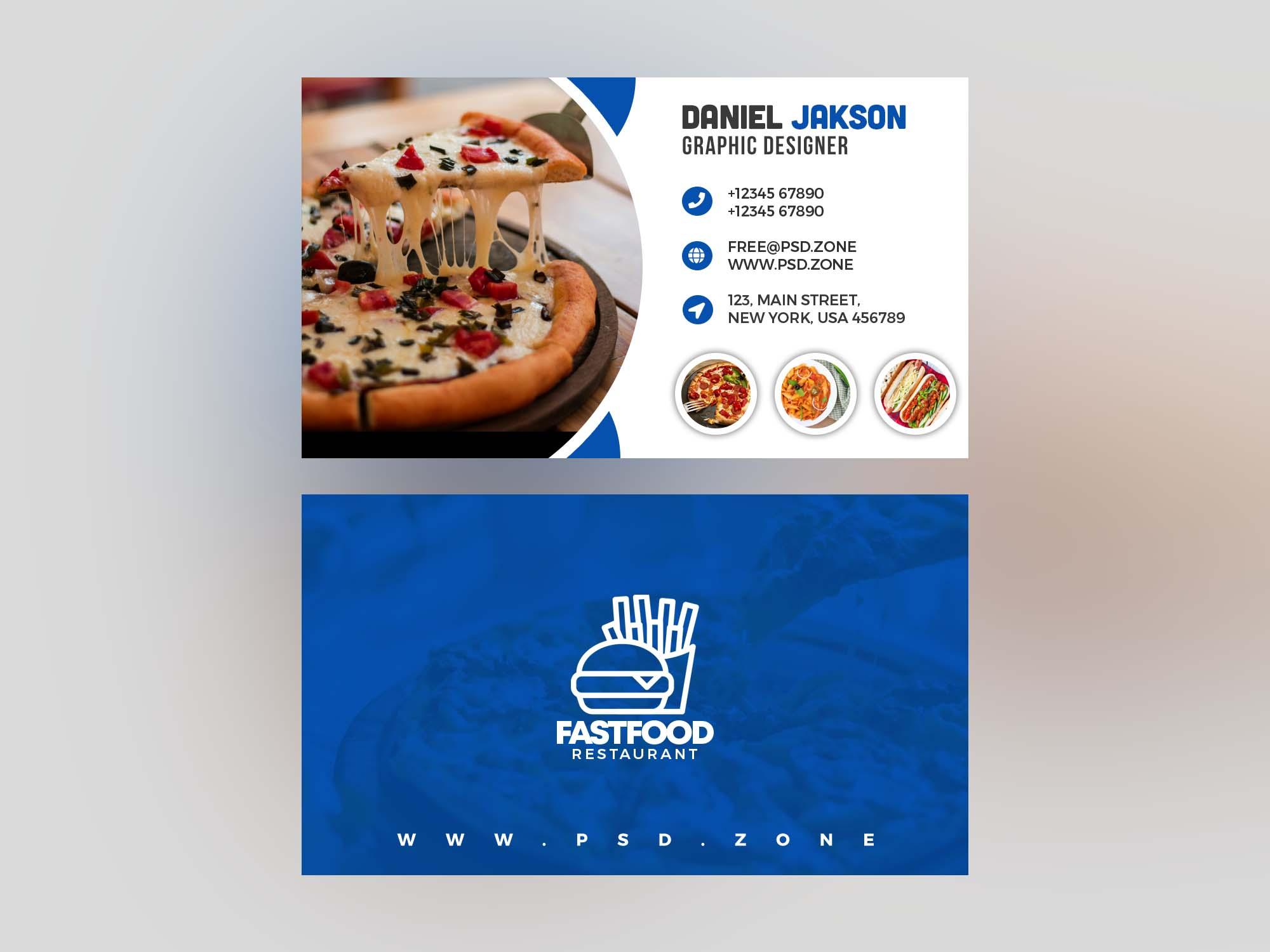 Food Restaurant Business Card Template 2
