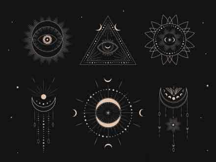 Free Sacred Geometry Logo Templates