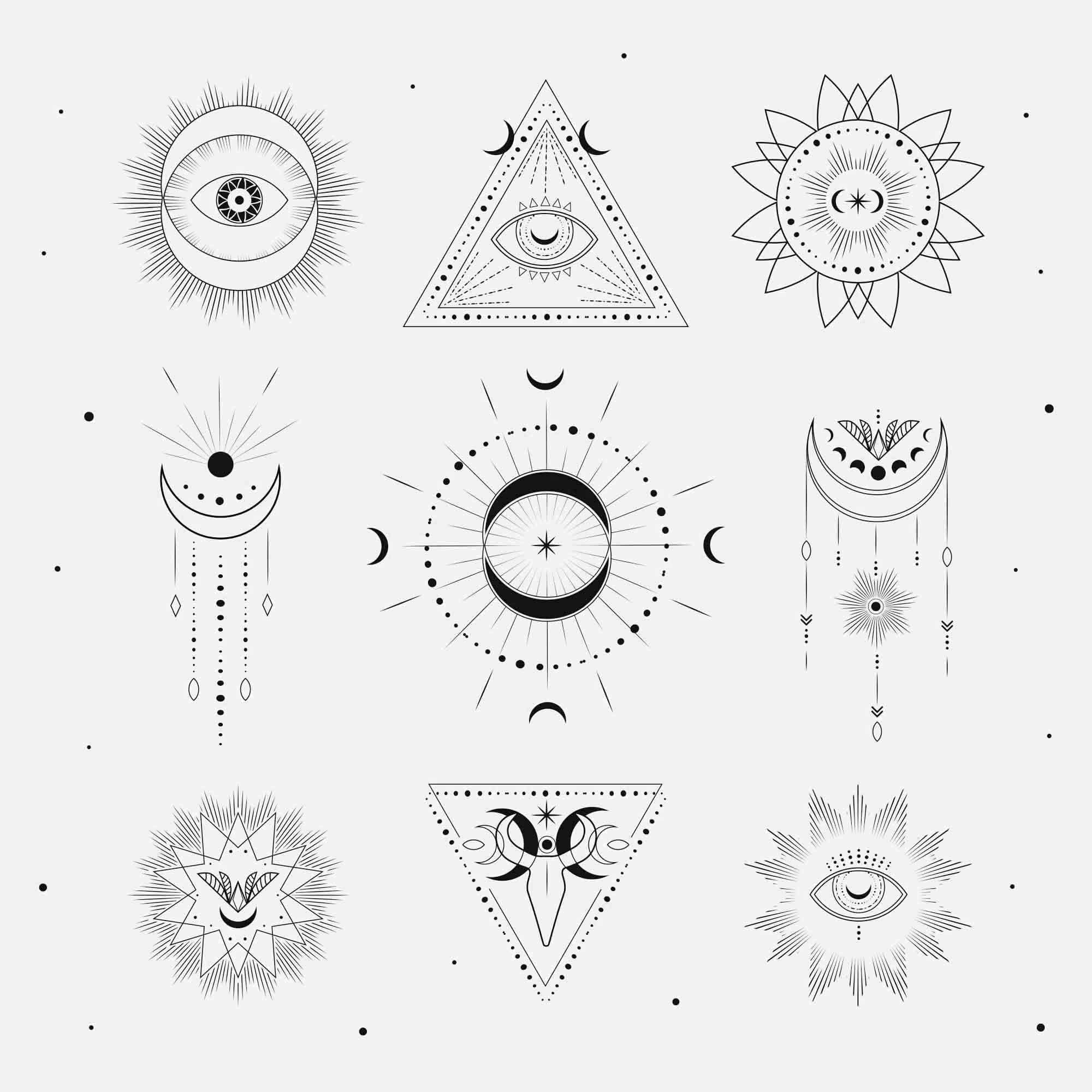 Free Sacred Geometry Logo Templates 2