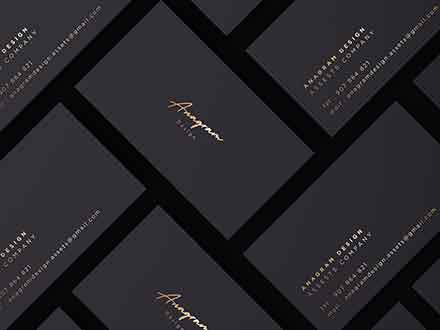 Gold and Black Corporate Identity Mockup