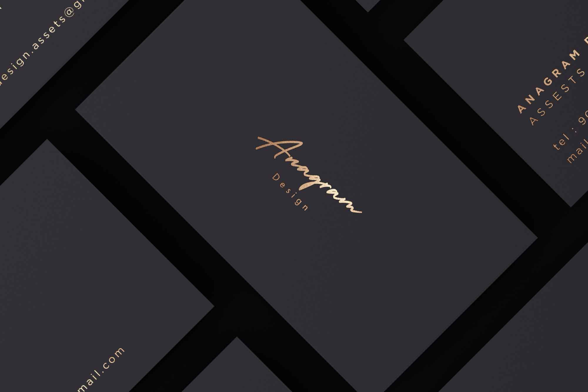 Gold and Black Corporate Identity Mockup 2