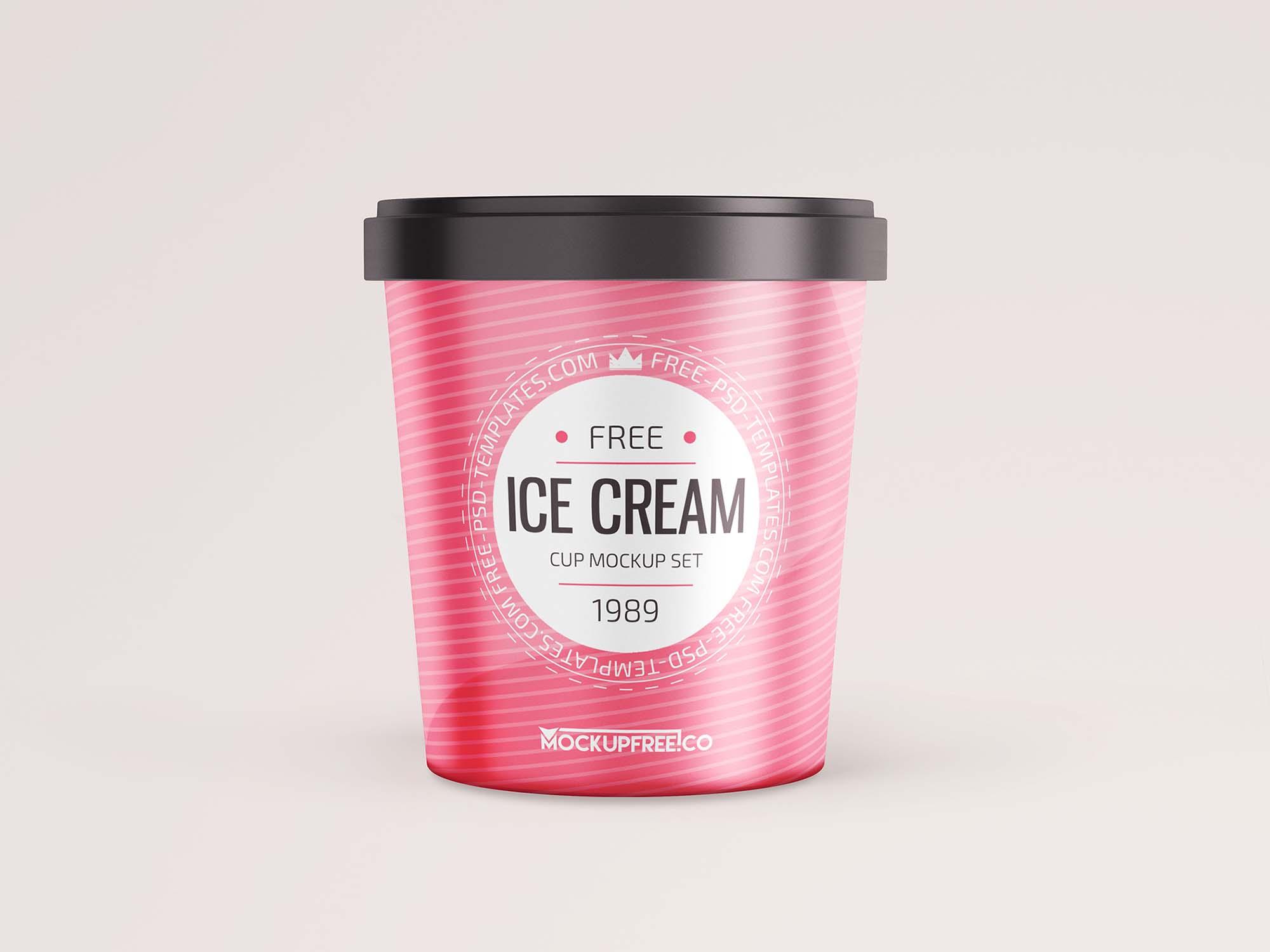 Ice Cream Round Box Mockup 2