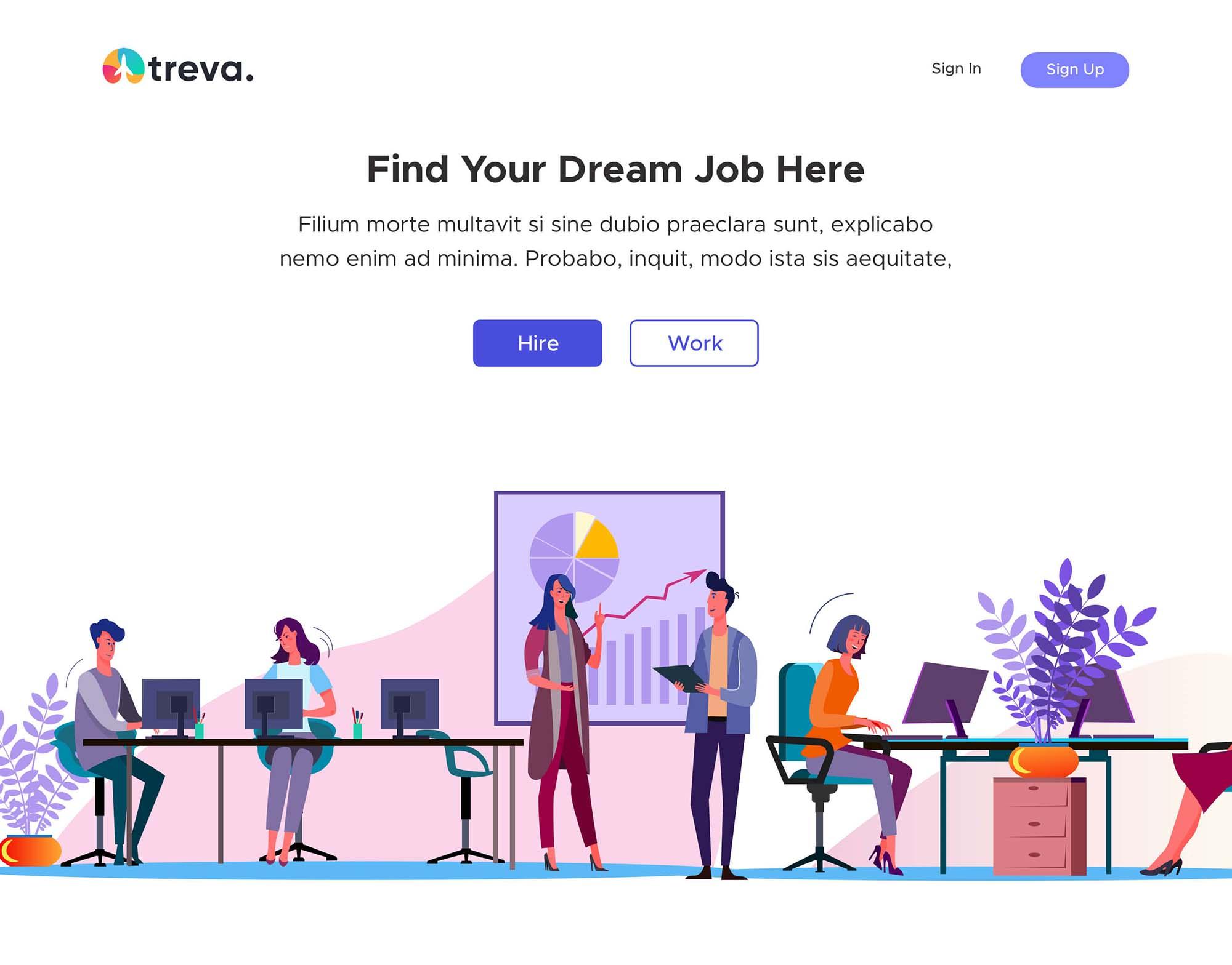 Job Hiring Landing Page Template 1
