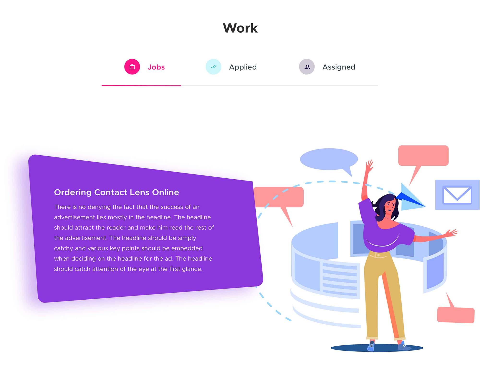 Job Hiring Landing Page Template 4