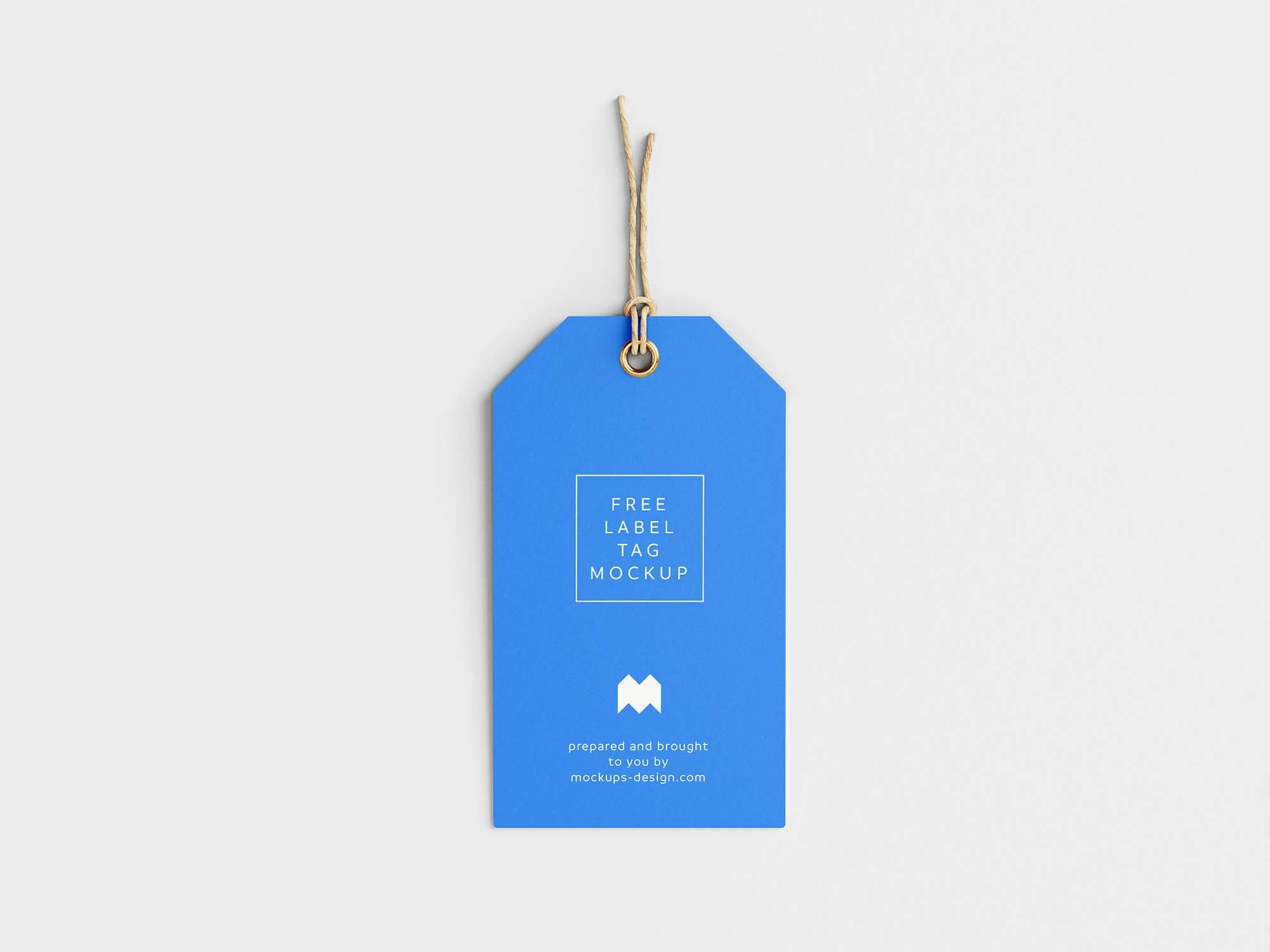 Label Tag Mockup 3