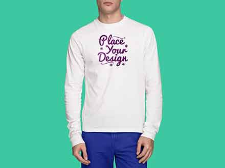 Long Sleeve T-Shirt Mockup