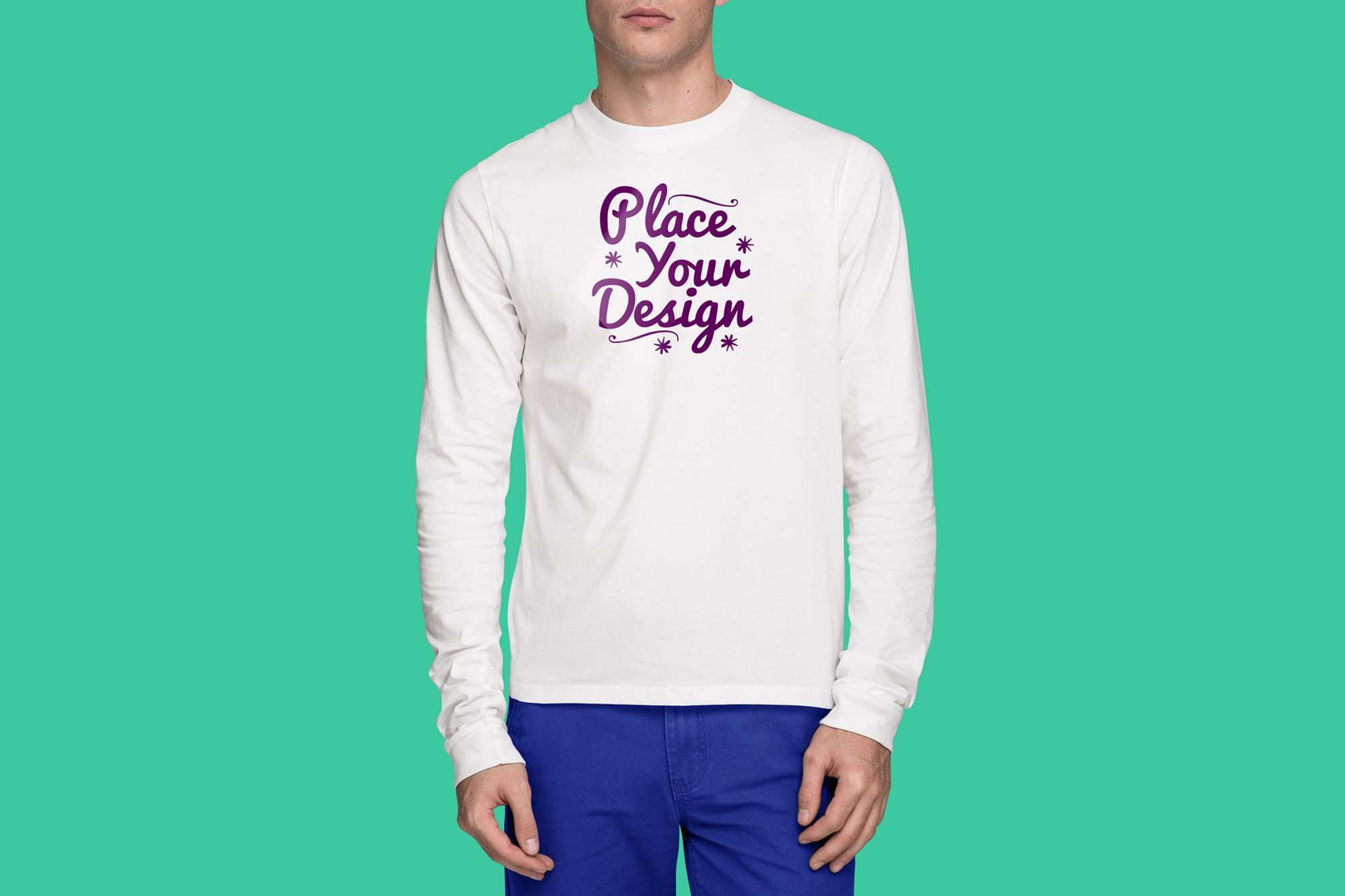Long Sleeve T-Shirt Mockup