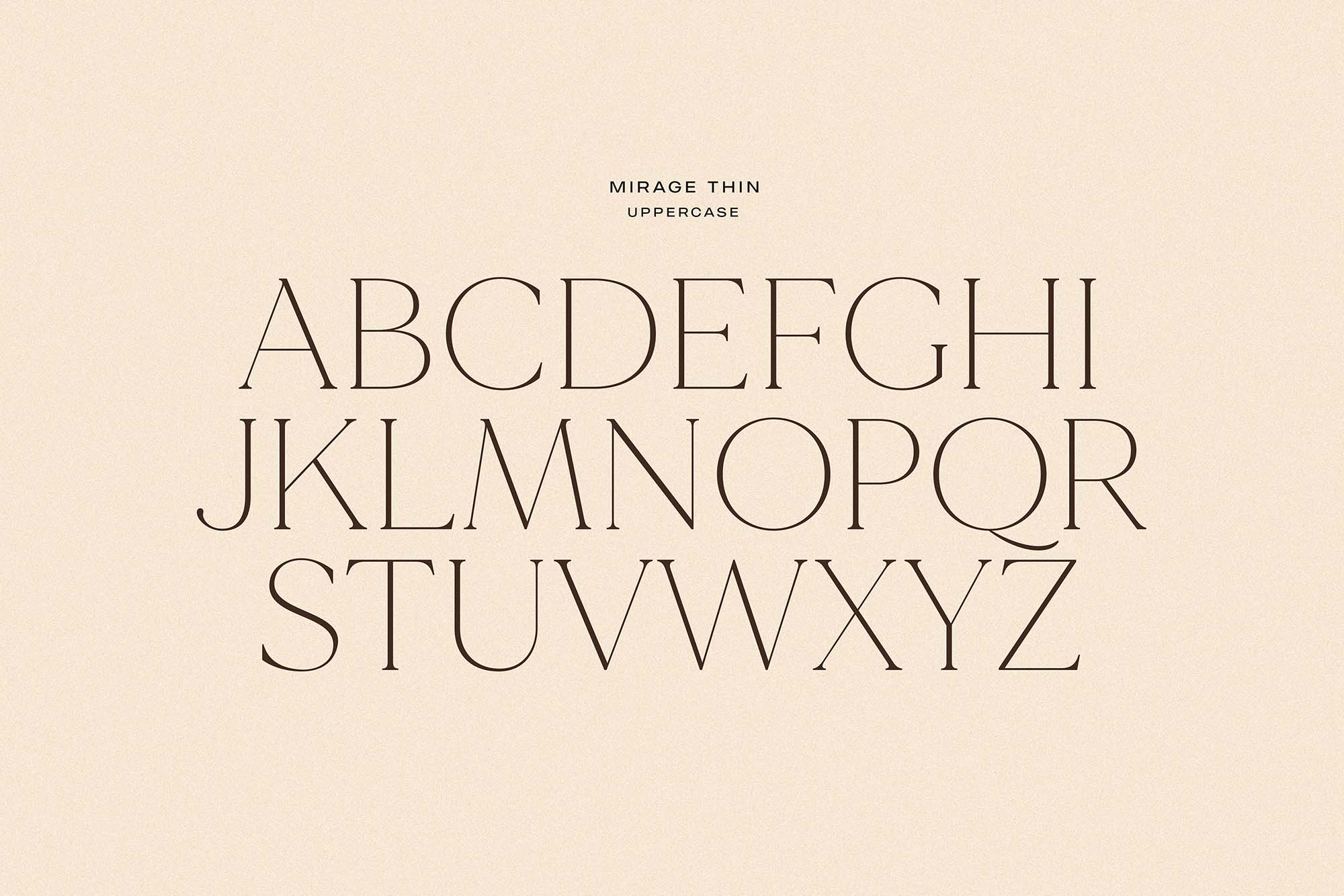 Made Mirage Serif Font Letters