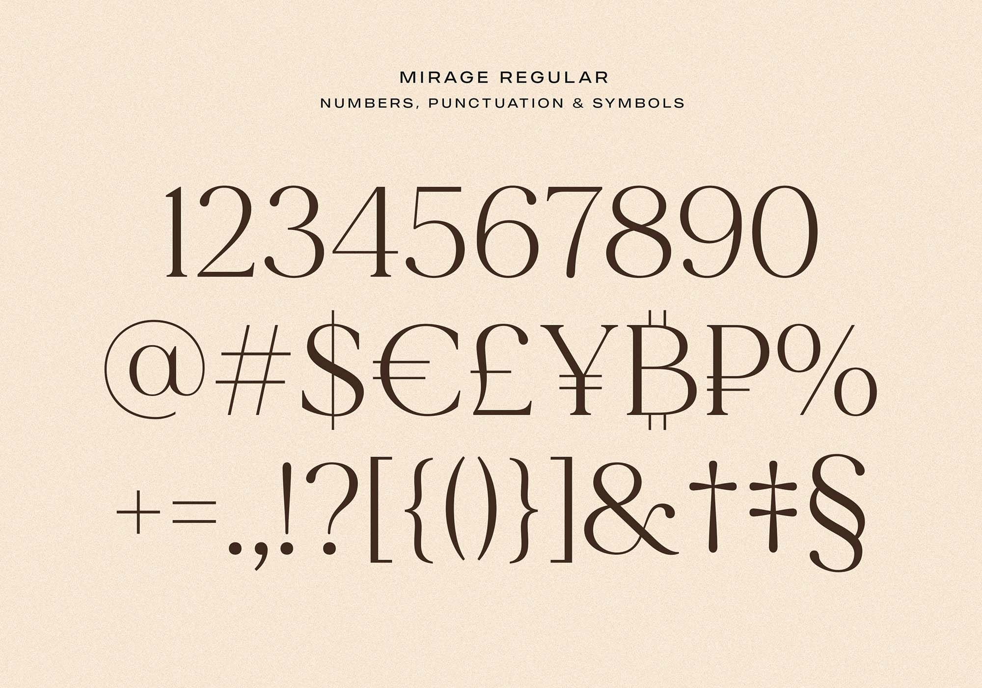 Made Mirage Serif Font Numbers