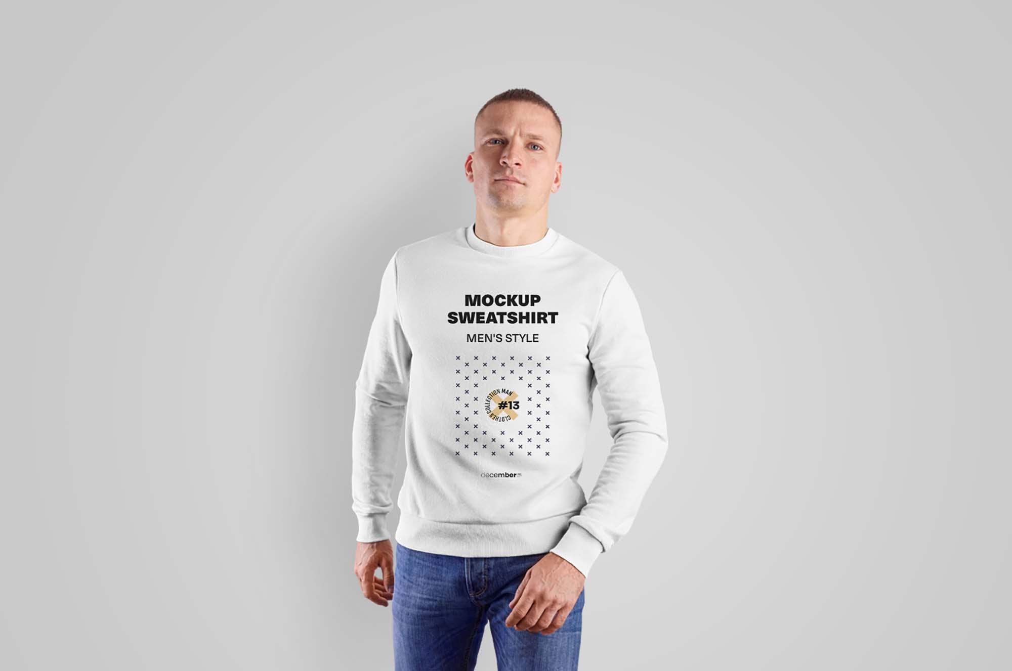 Mens Sweatshirt Mockup
