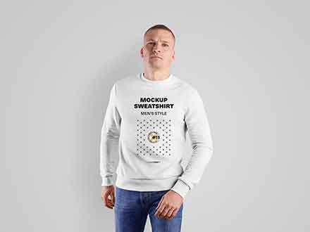 Mens Sweatshirt Mockup