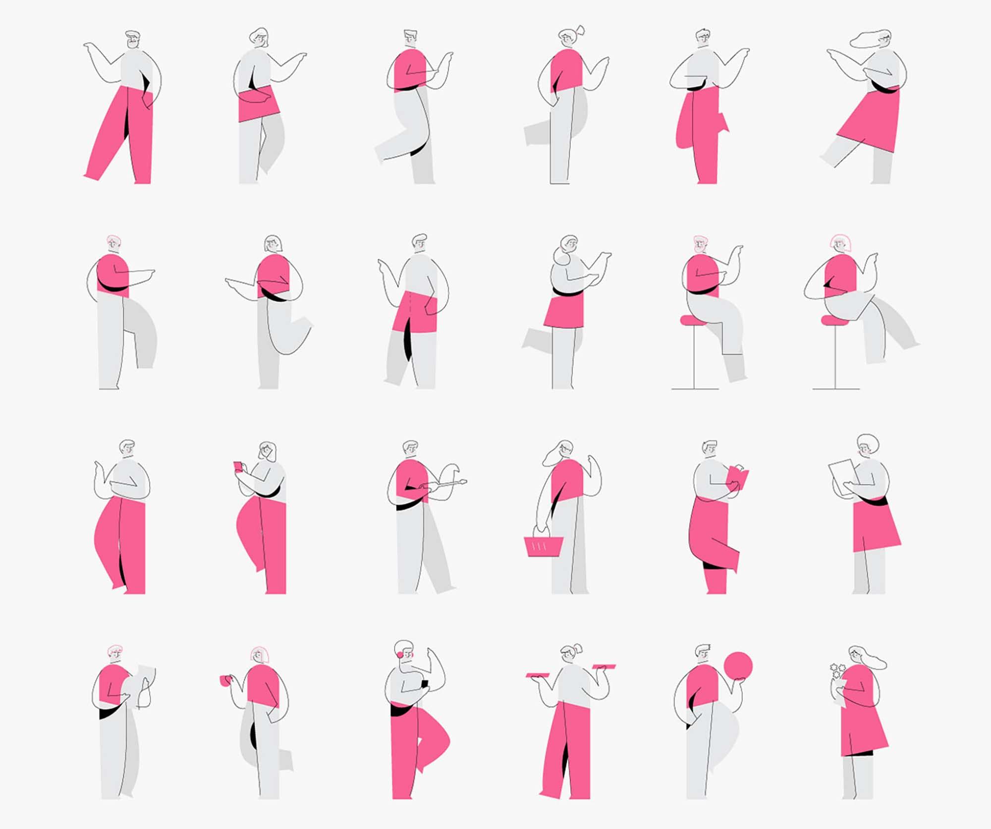 Minimalistic Characters Illustrations 1