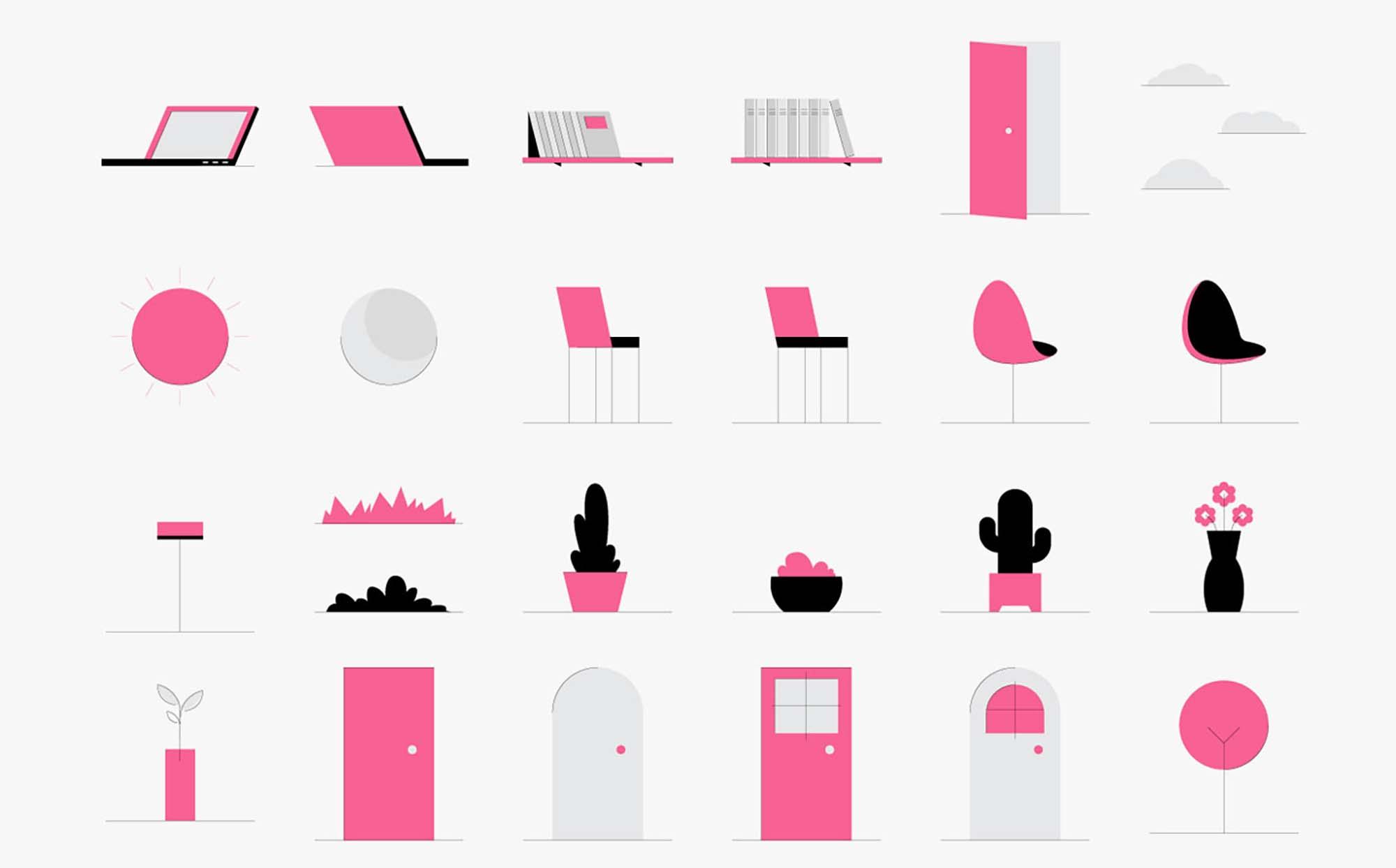 Minimalistic Characters Illustrations 4
