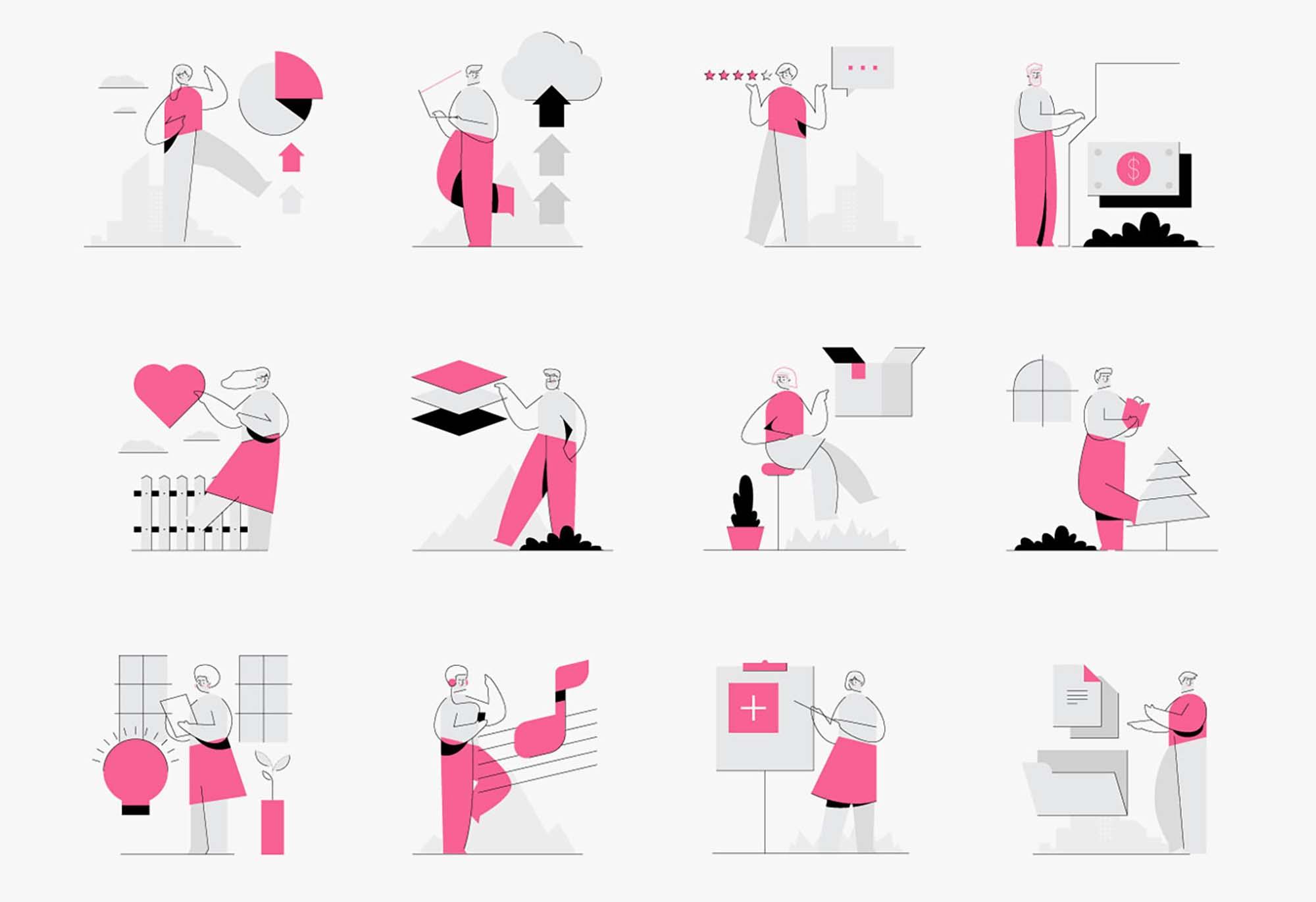 Minimalistic Characters Illustrations 6