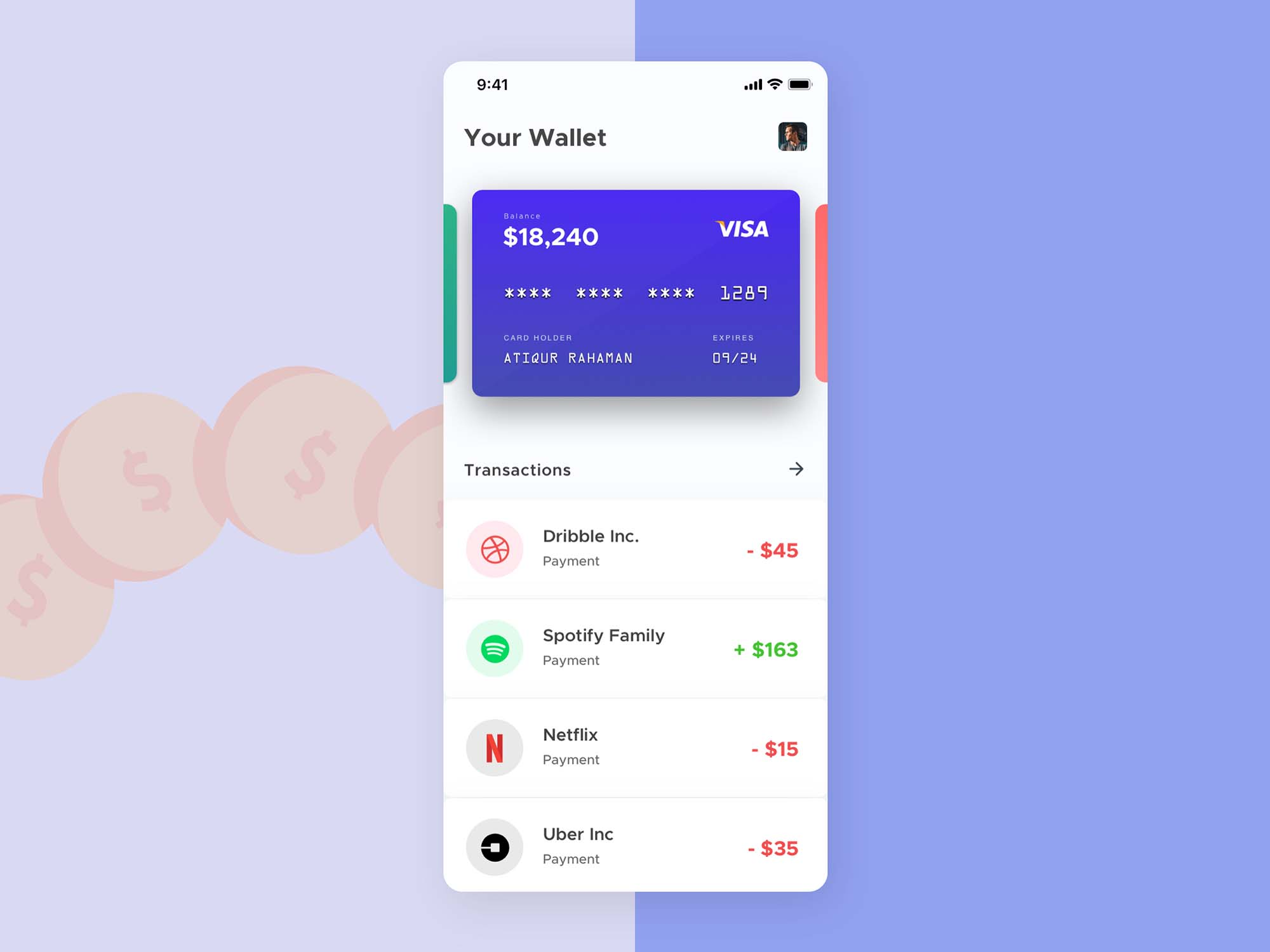 Mobile Wallet App Template 2